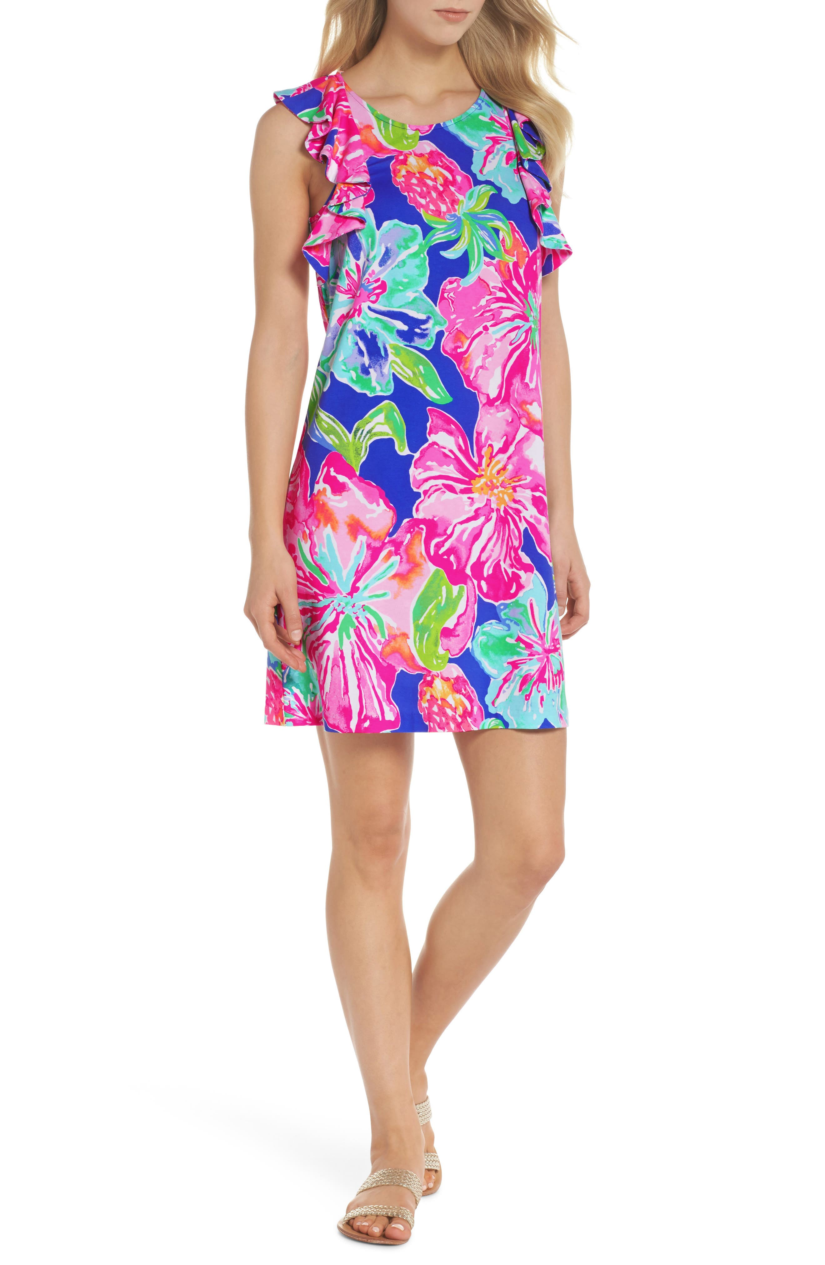 Esmeralda Shift Dress,                         Main,                         color, 500