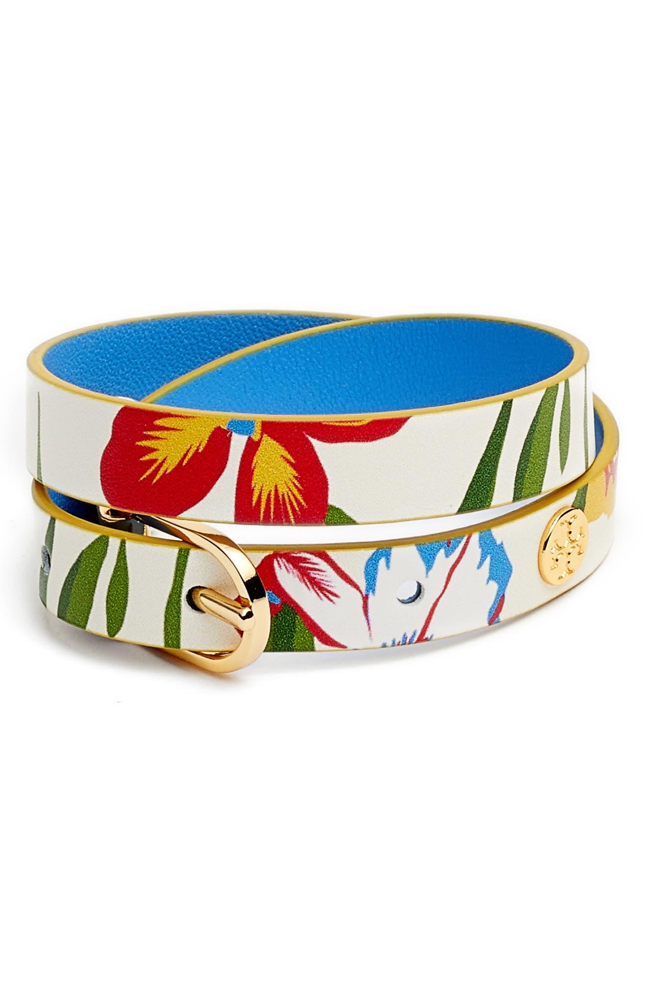 Reversible Leather Double Wrap Bracelet,                             Main thumbnail 3, color,