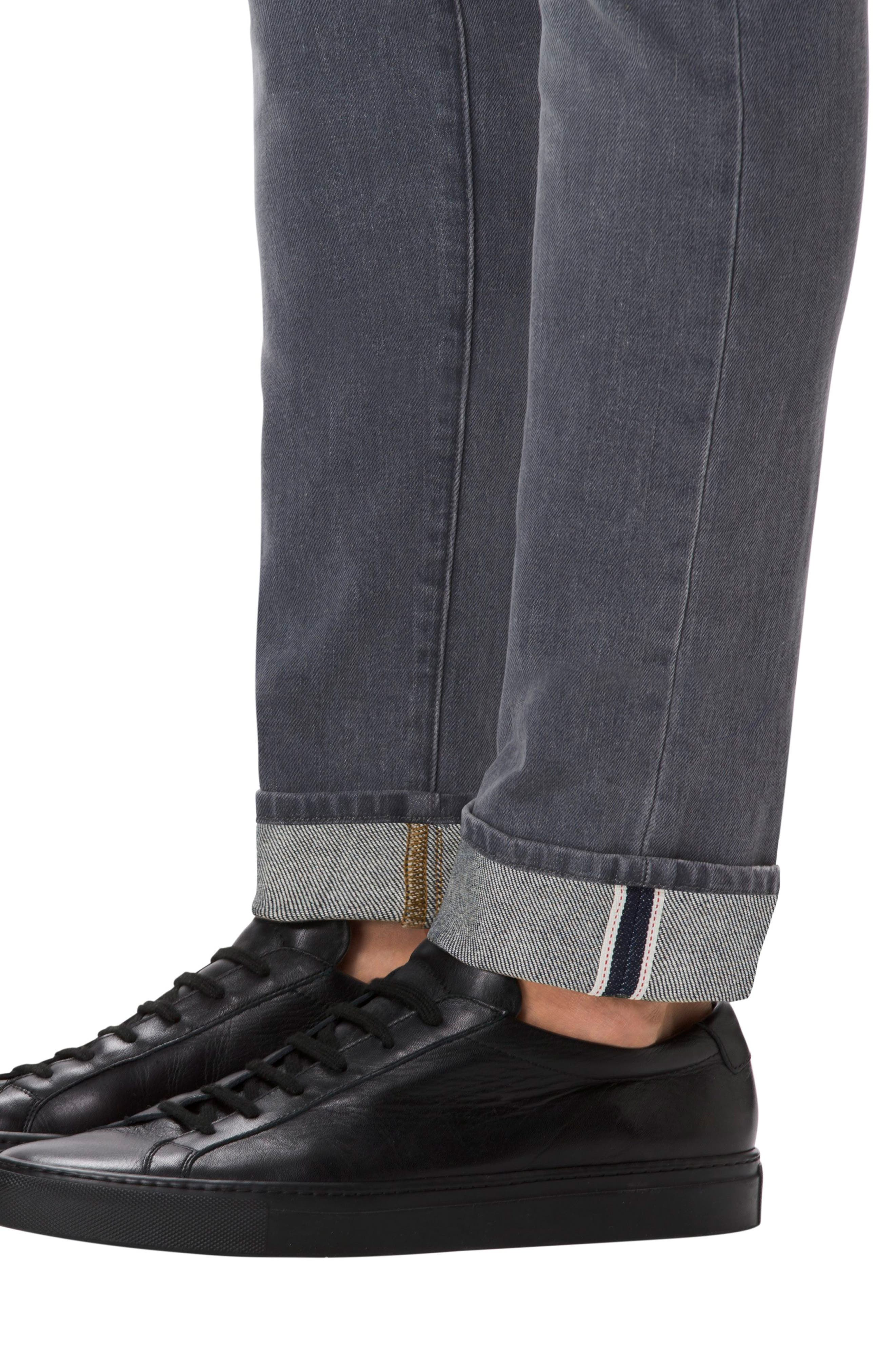 Tyler Slim Fit Jeans,                             Alternate thumbnail 4, color,                             GREY LUNA