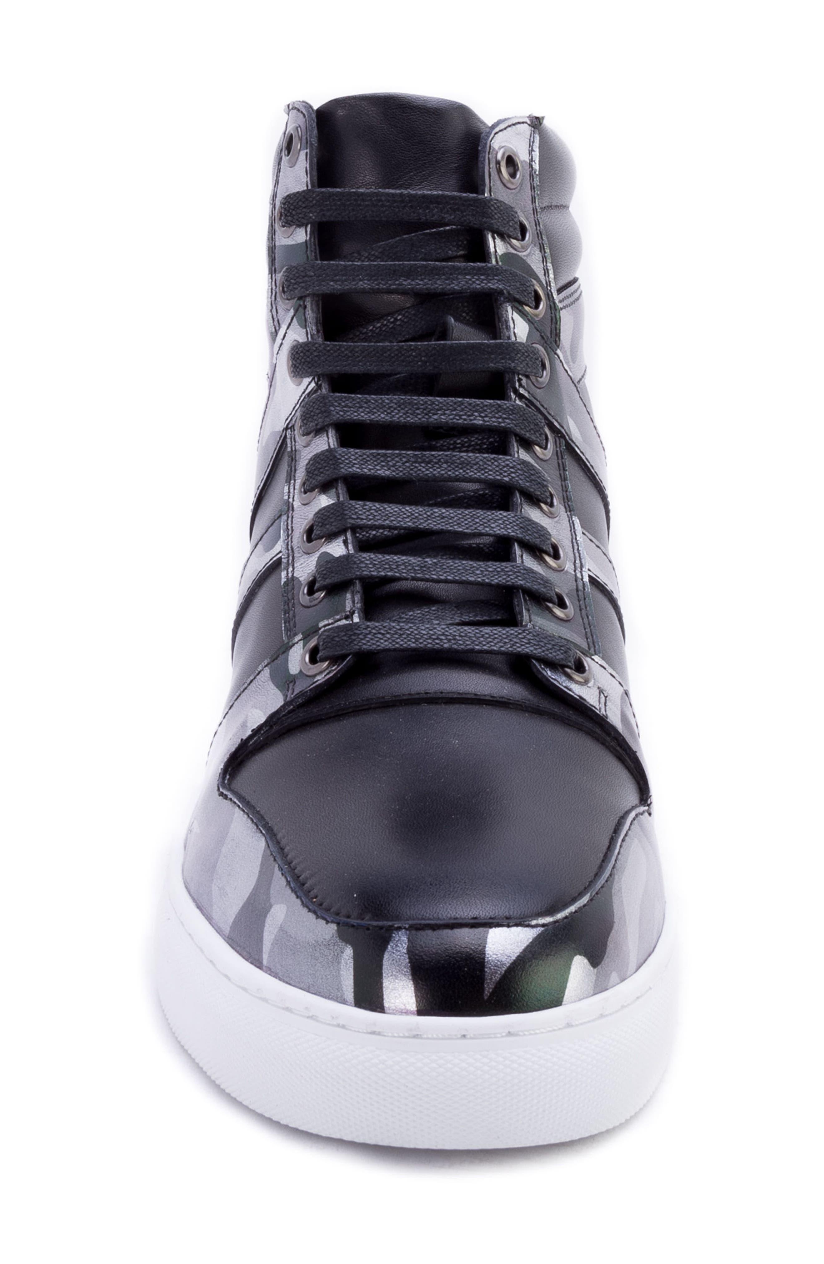 Sutherland Sneaker,                             Alternate thumbnail 4, color,                             BLACK LEATHER