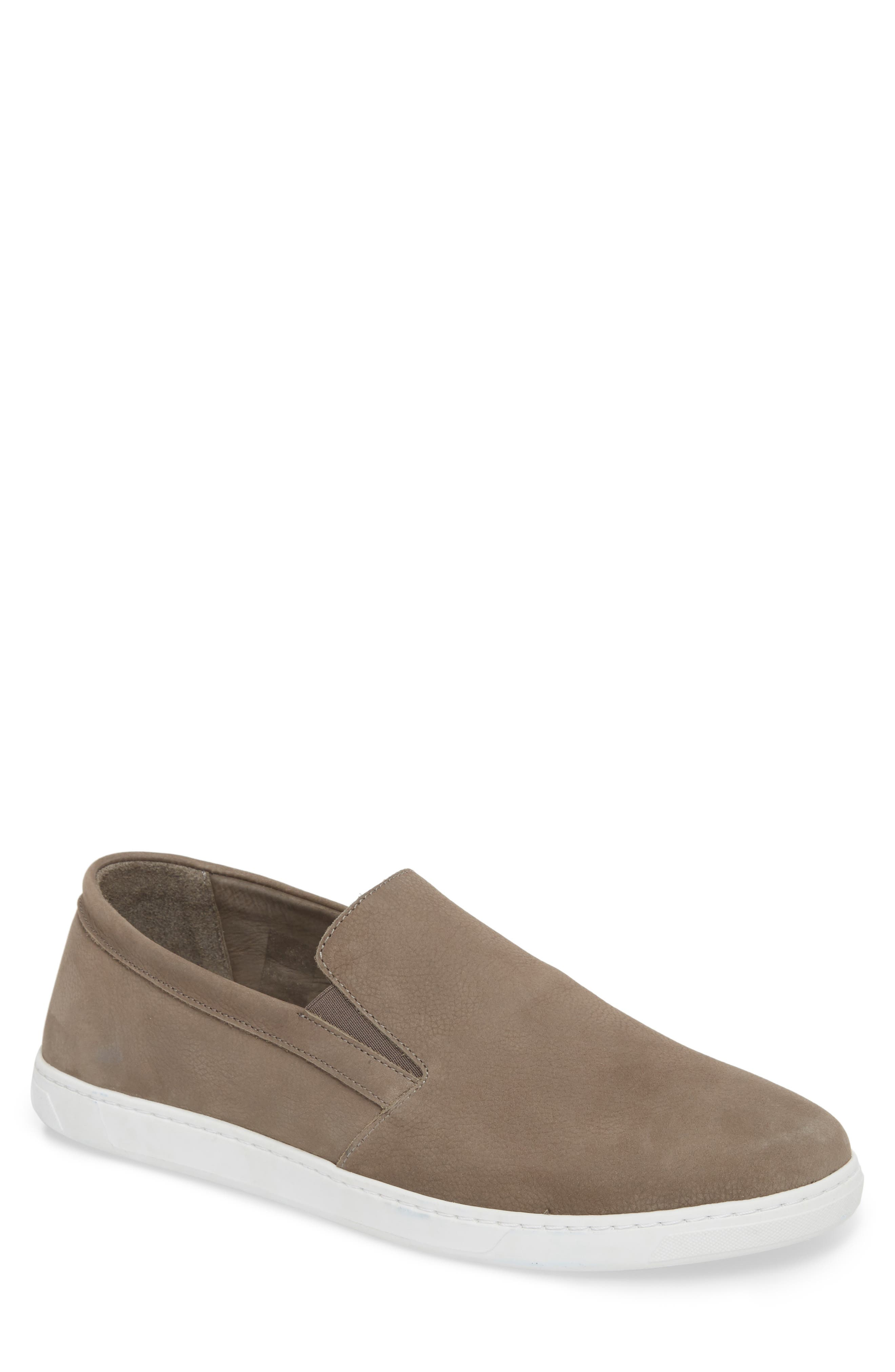 VINCE CAMUTO Neff Slip-On Sneaker, Main, color, DARK GREY LEATHER