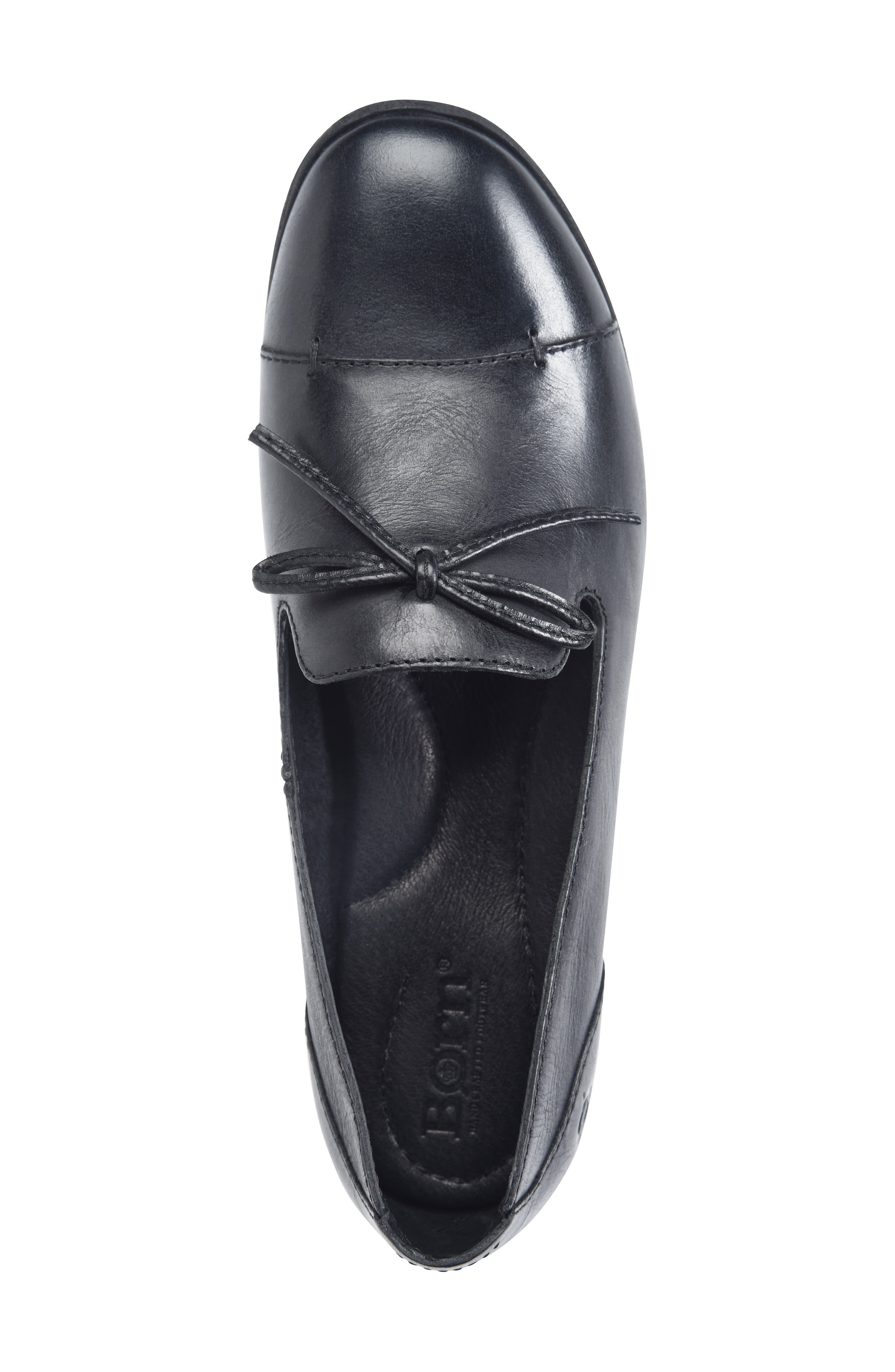 Gallatin Loafer,                             Alternate thumbnail 5, color,                             BLACK LEATHER