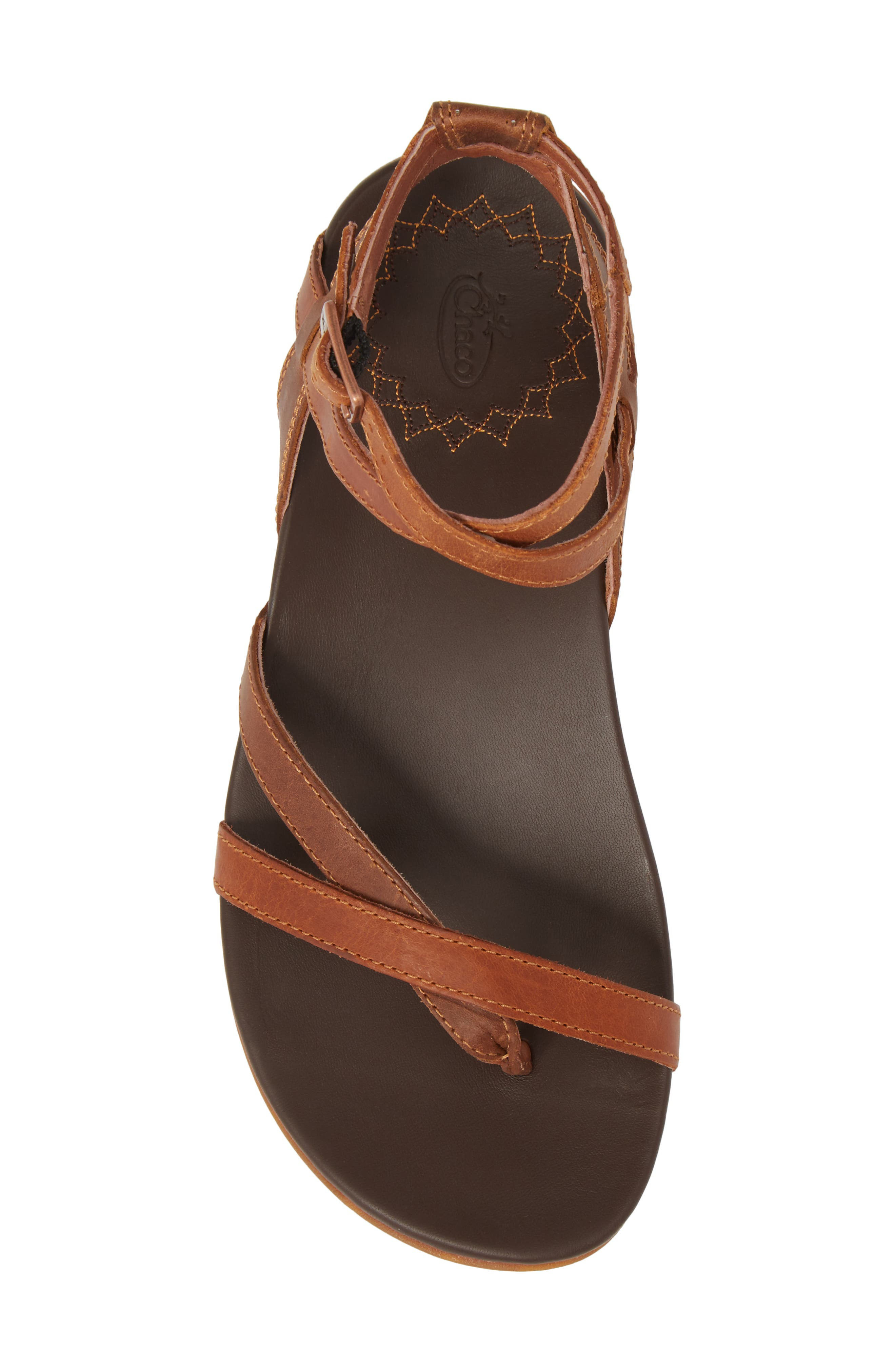 CHACO,                             Juniper Sandal,                             Alternate thumbnail 5, color,                             RUST LEATHER