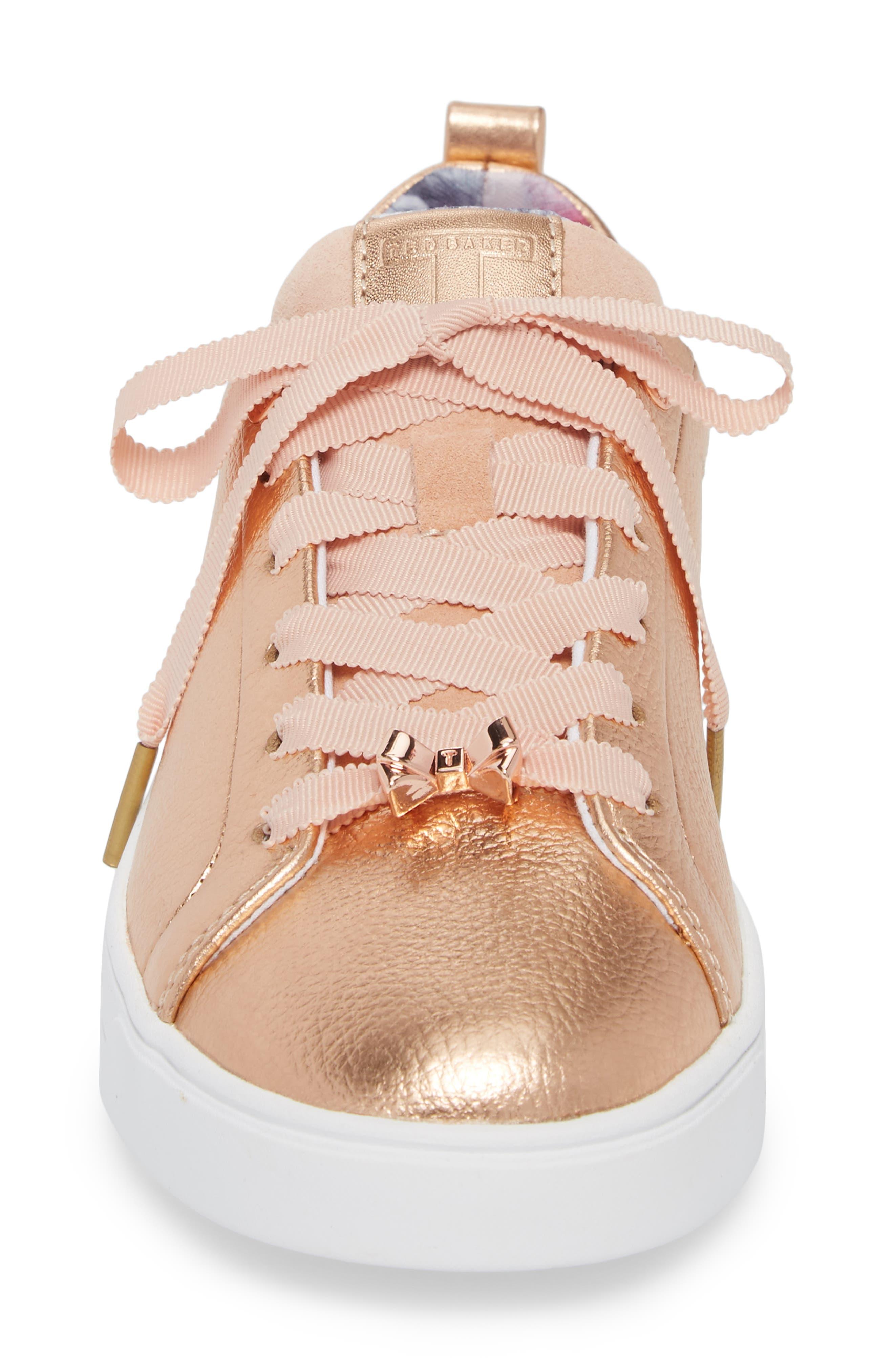 Kelleip Sneaker,                             Alternate thumbnail 4, color,                             ROSE GOLD/ PALACE GARDENS