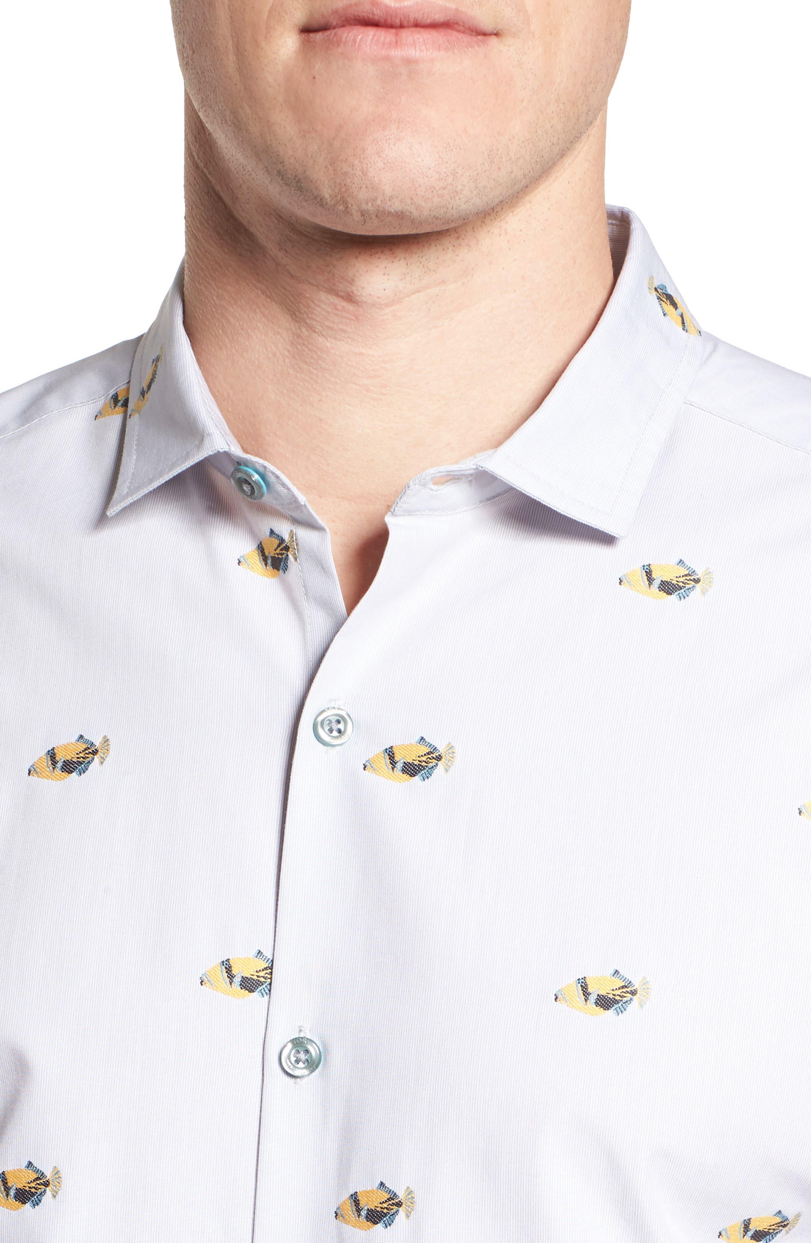 1Humu 2Humu Embroidered Sport Shirt,                             Alternate thumbnail 4, color,