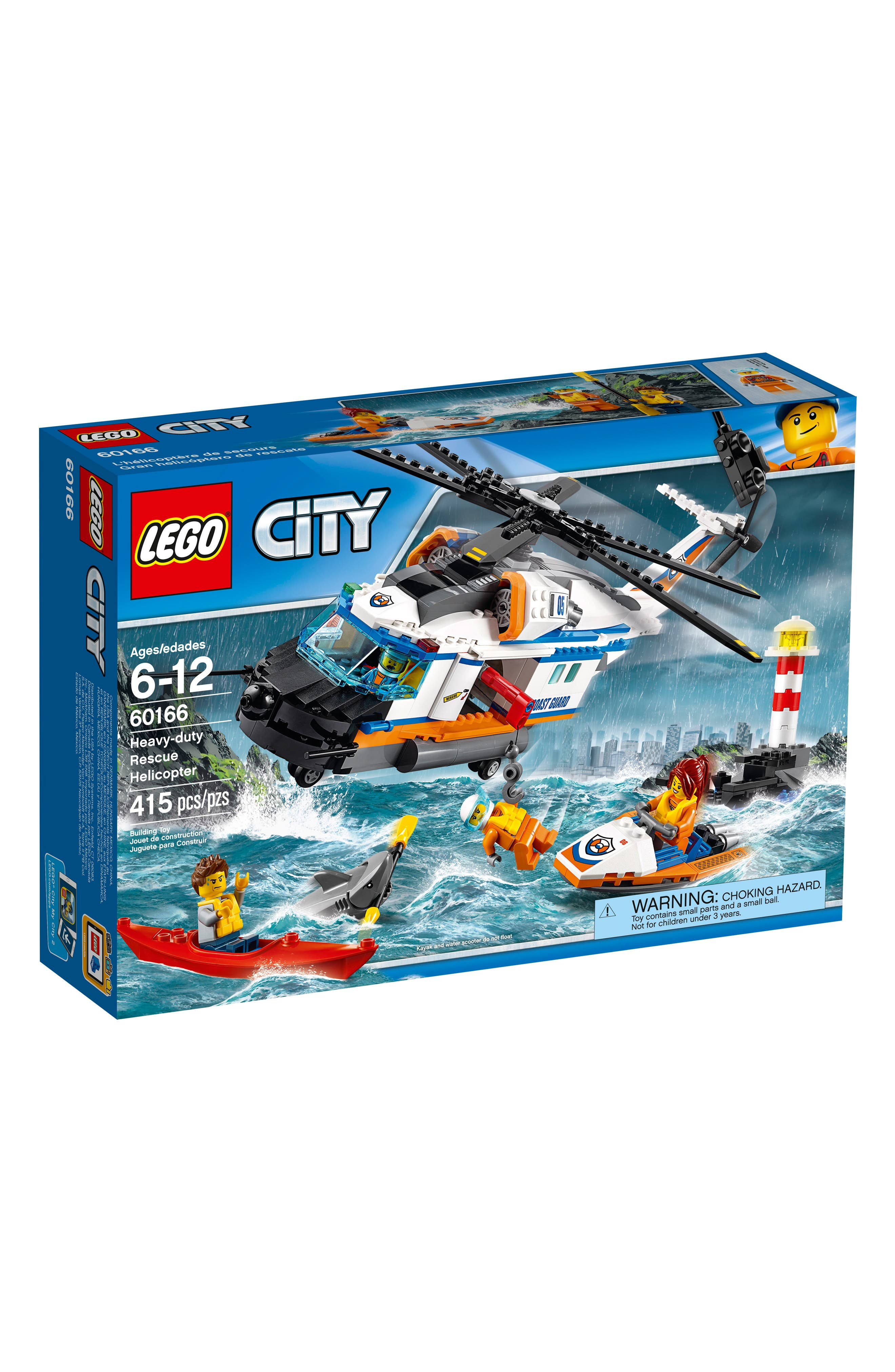 City Heavy-Duty Rescue Helicopter - 60166,                             Main thumbnail 1, color,                             100