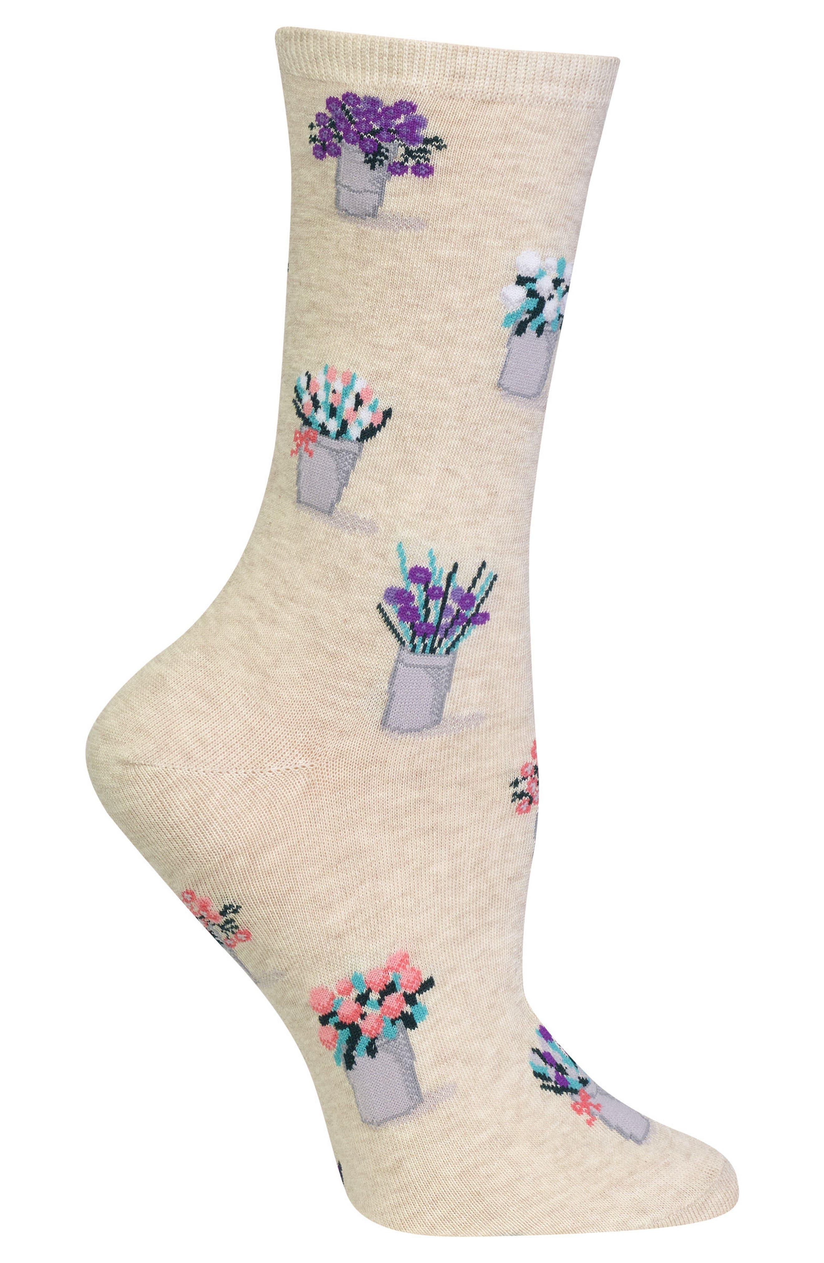 Bouquet Crew Socks,                             Alternate thumbnail 2, color,                             257