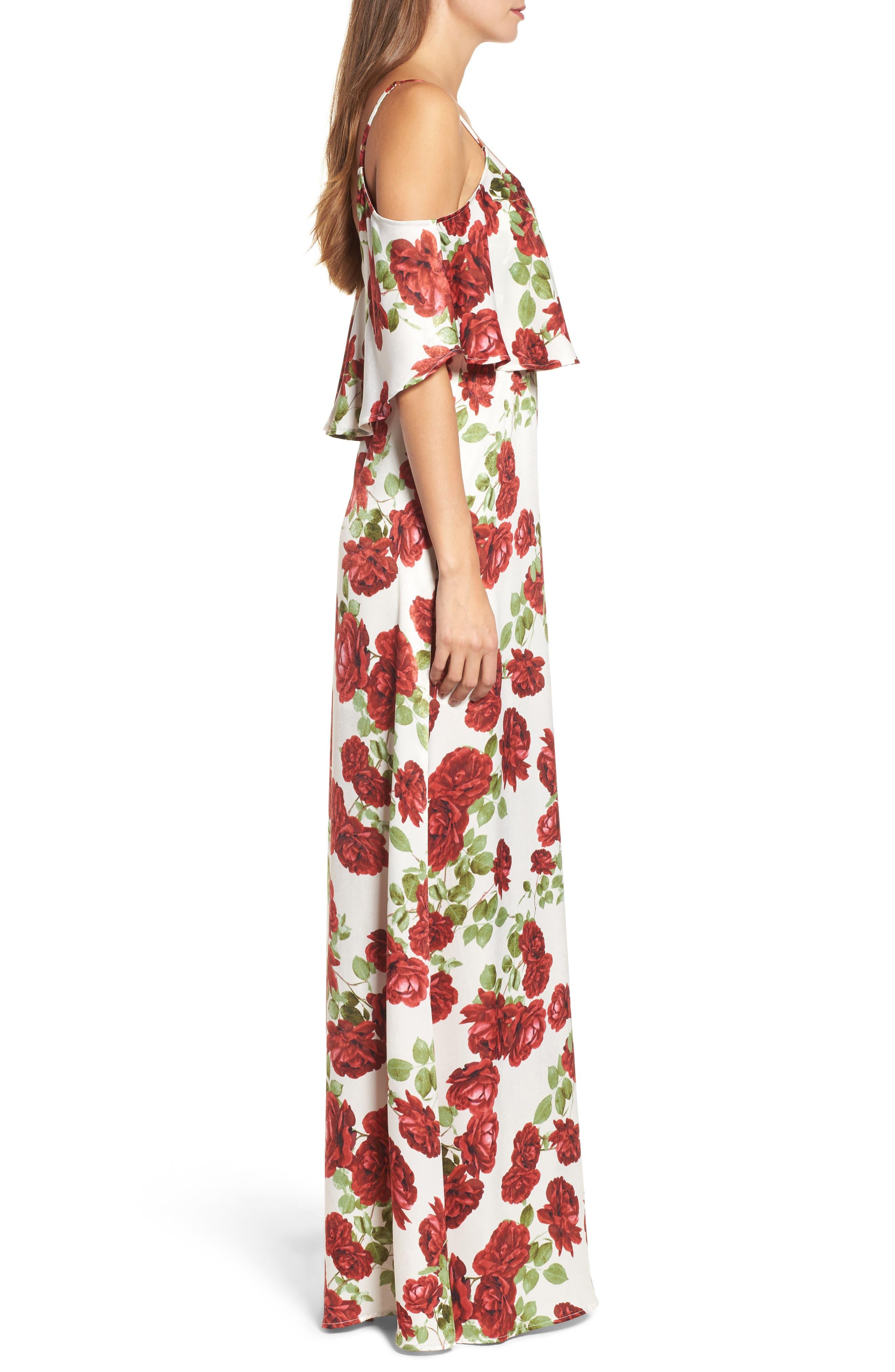 Caitlin Cold Shoulder Chiffon Gown,                             Alternate thumbnail 41, color,