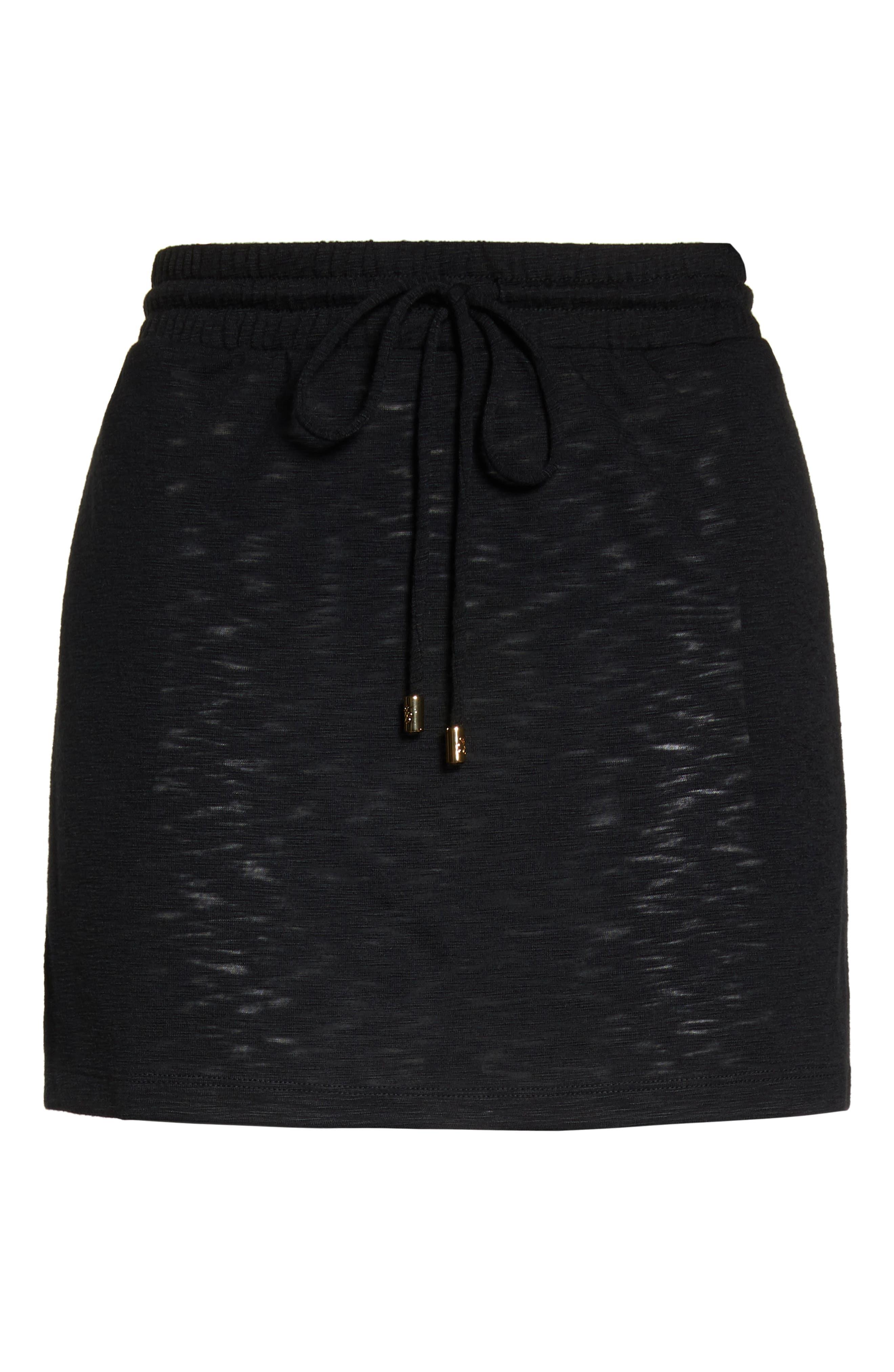 TOMMY BAHAMA,                             Cover-Up Skirt,                             Alternate thumbnail 6, color,                             BLACK