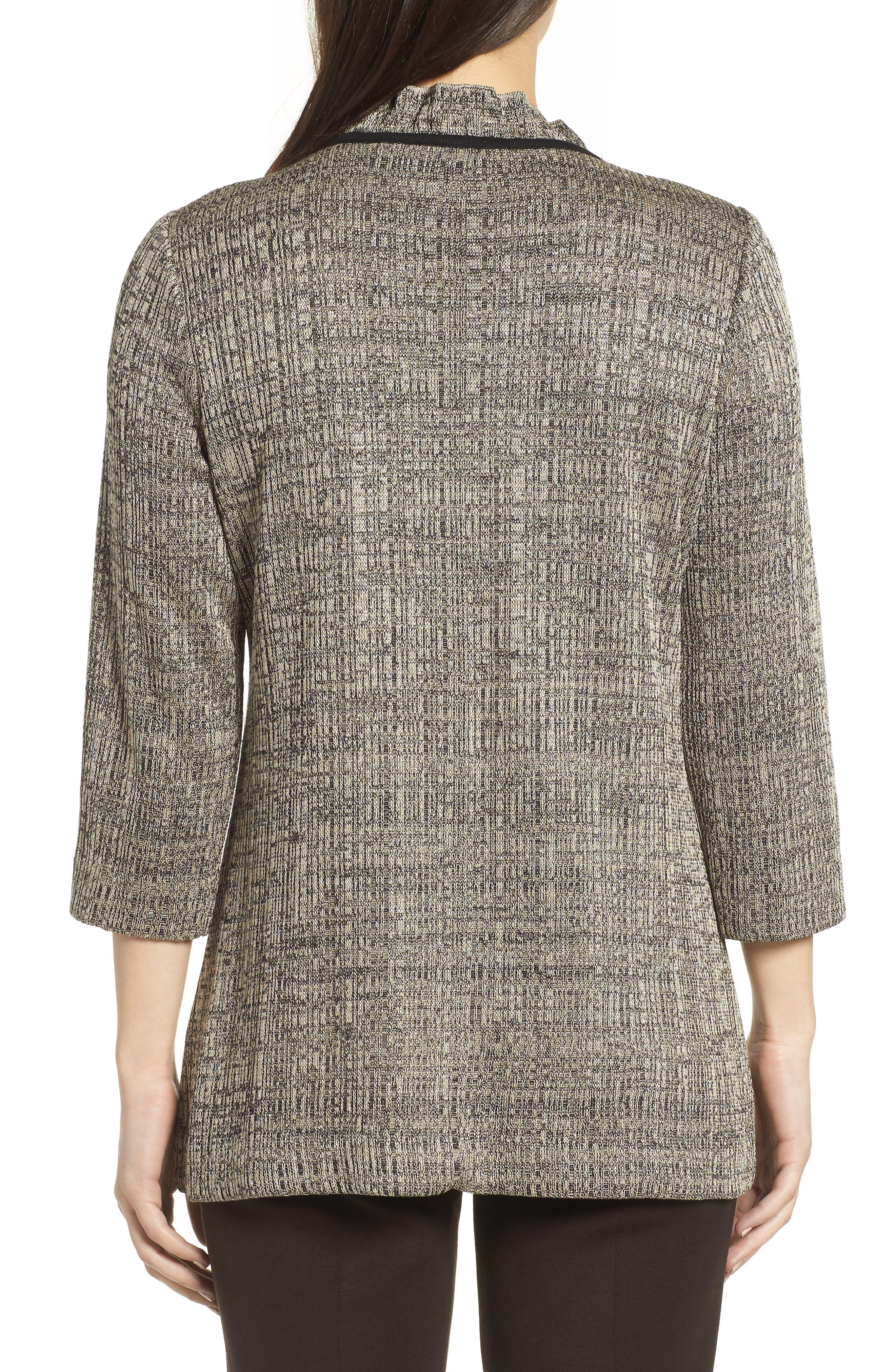 Textured Knit Tunic,                             Alternate thumbnail 2, color,                             CEDAR/ BLACK