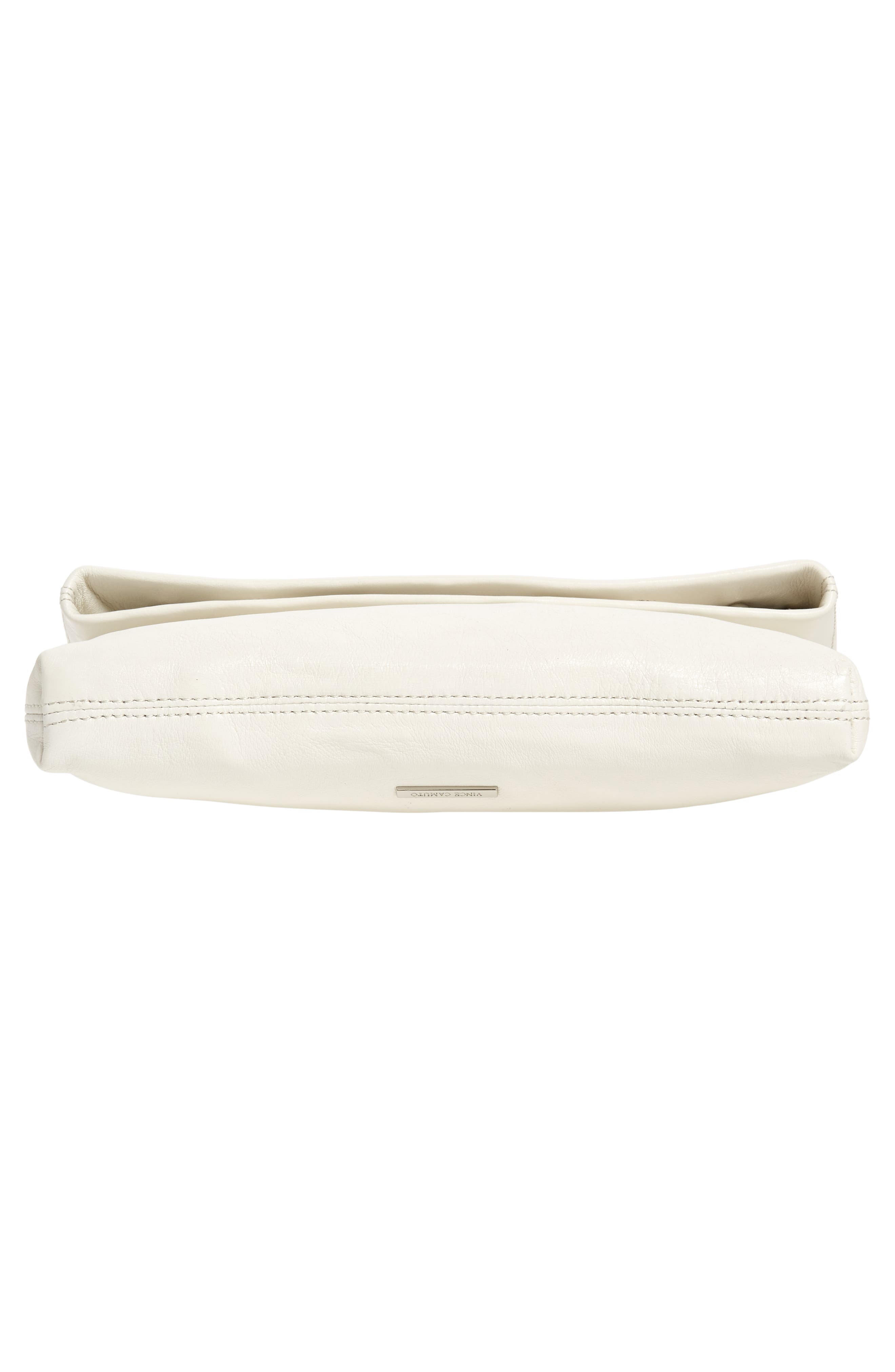 Large Marti Leather Convertible Clutch,                             Alternate thumbnail 7, color,                             SNOW WHITE