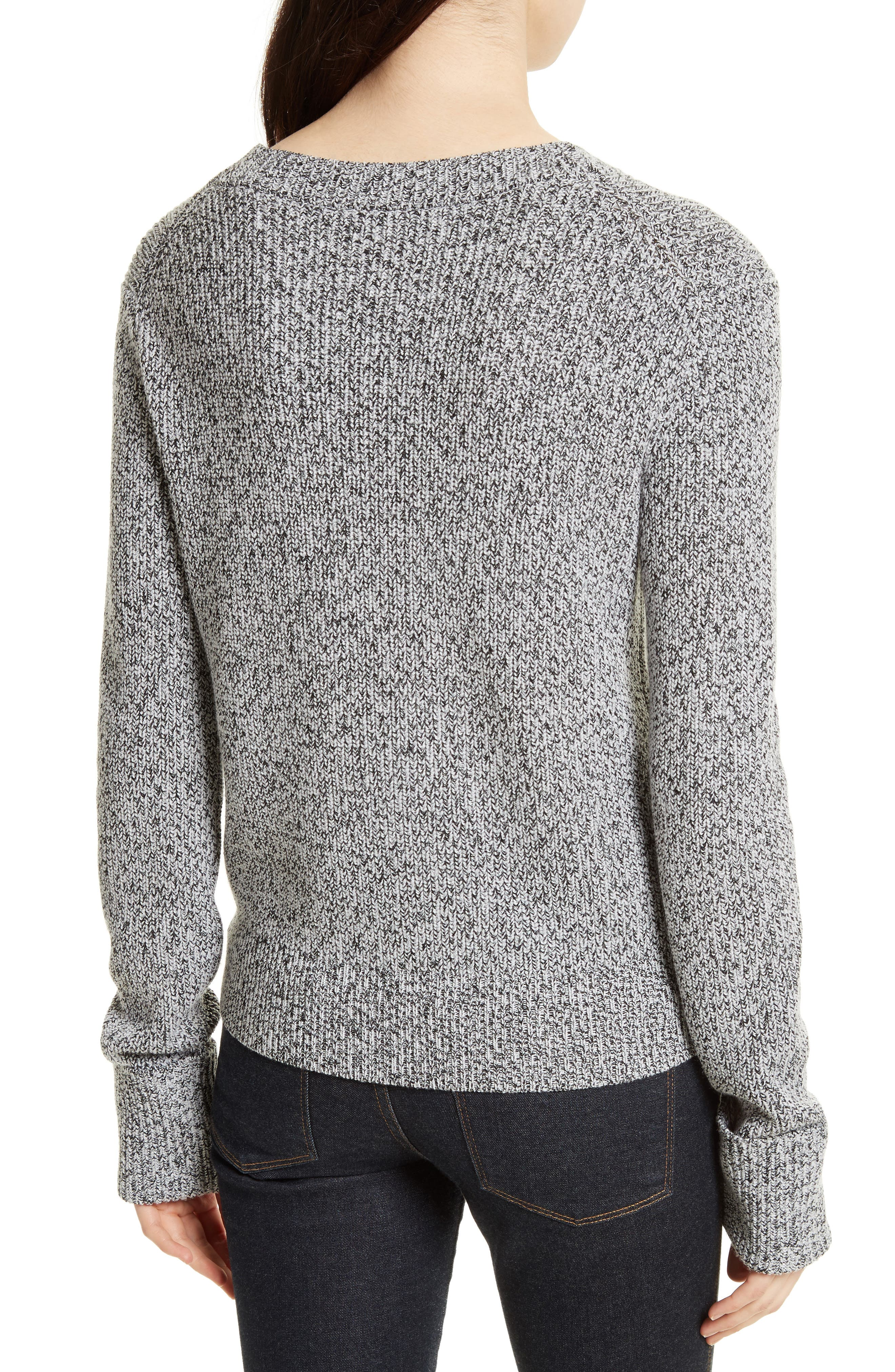 Rib Cuff Marled Sweater,                             Alternate thumbnail 2, color,                             020