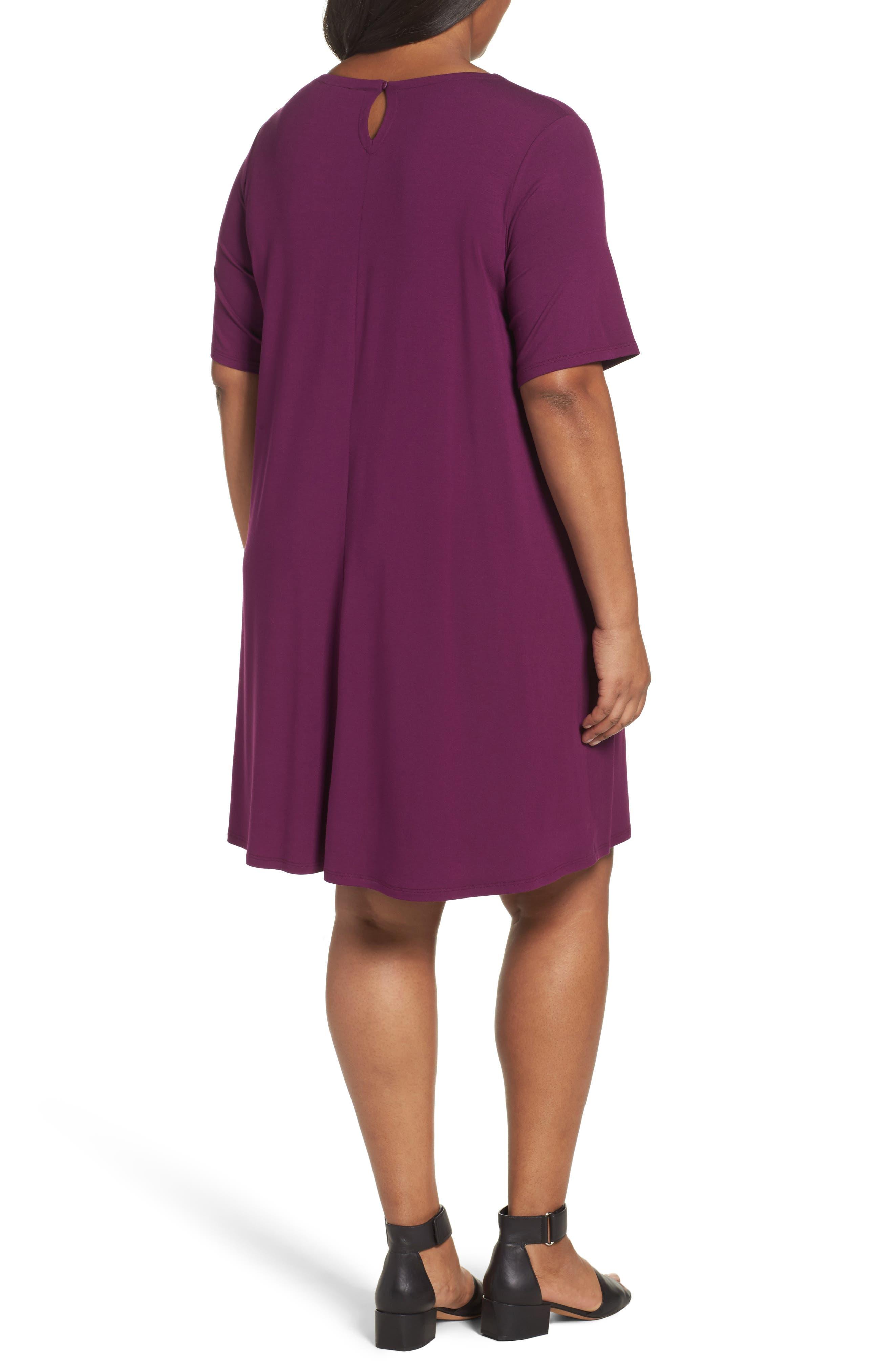 Stretch Jersey Shift Dress,                             Alternate thumbnail 4, color,