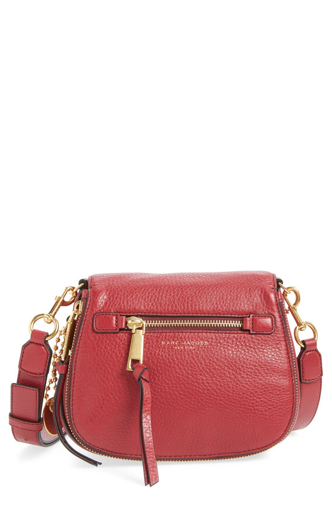 Small Recruit Nomad Pebbled Leather Crossbody Bag,                             Main thumbnail 12, color,