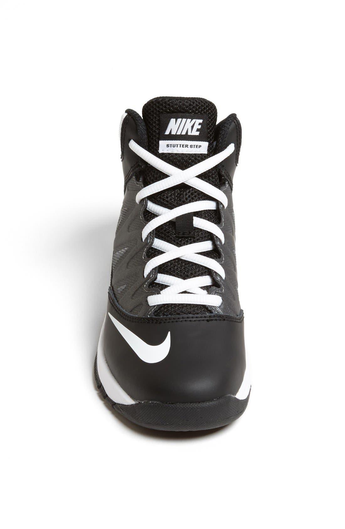 'Stutter Step' Basketball Shoe,                             Alternate thumbnail 4, color,                             001