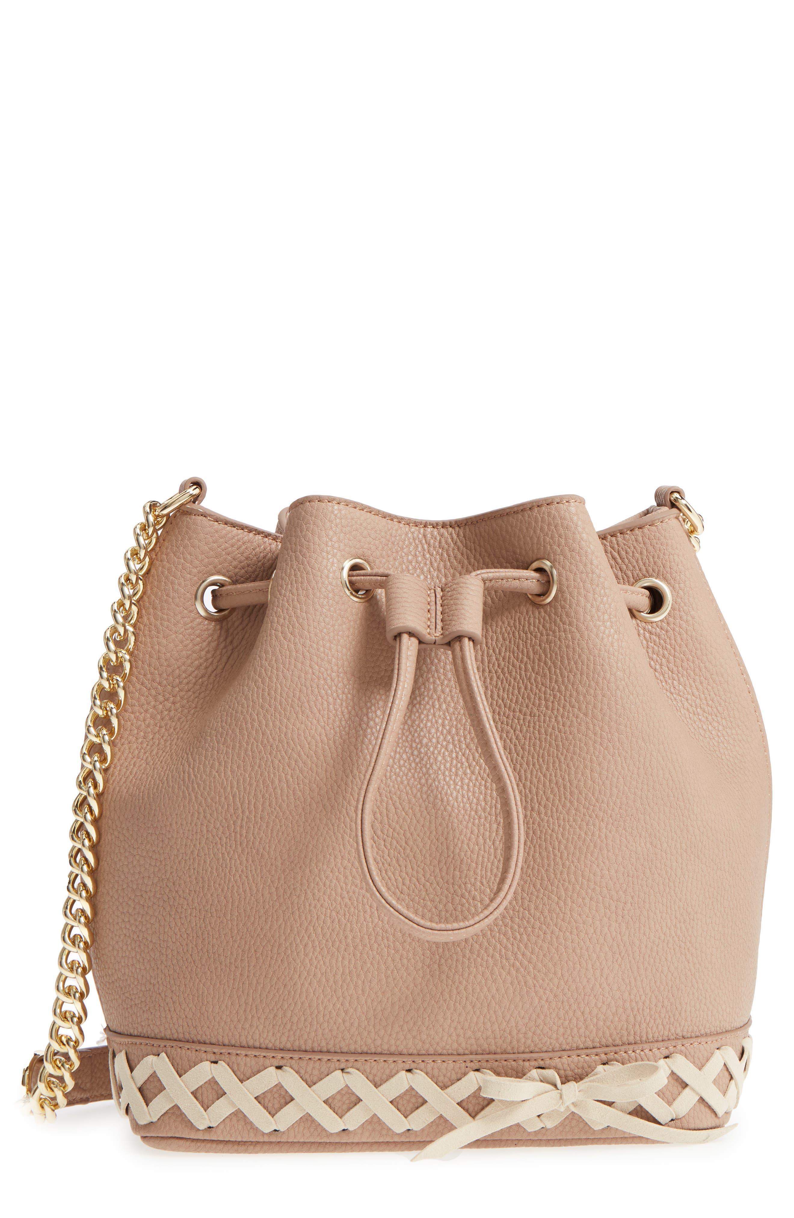 Veronica Faux Leather Bucket Bag,                             Main thumbnail 1, color,