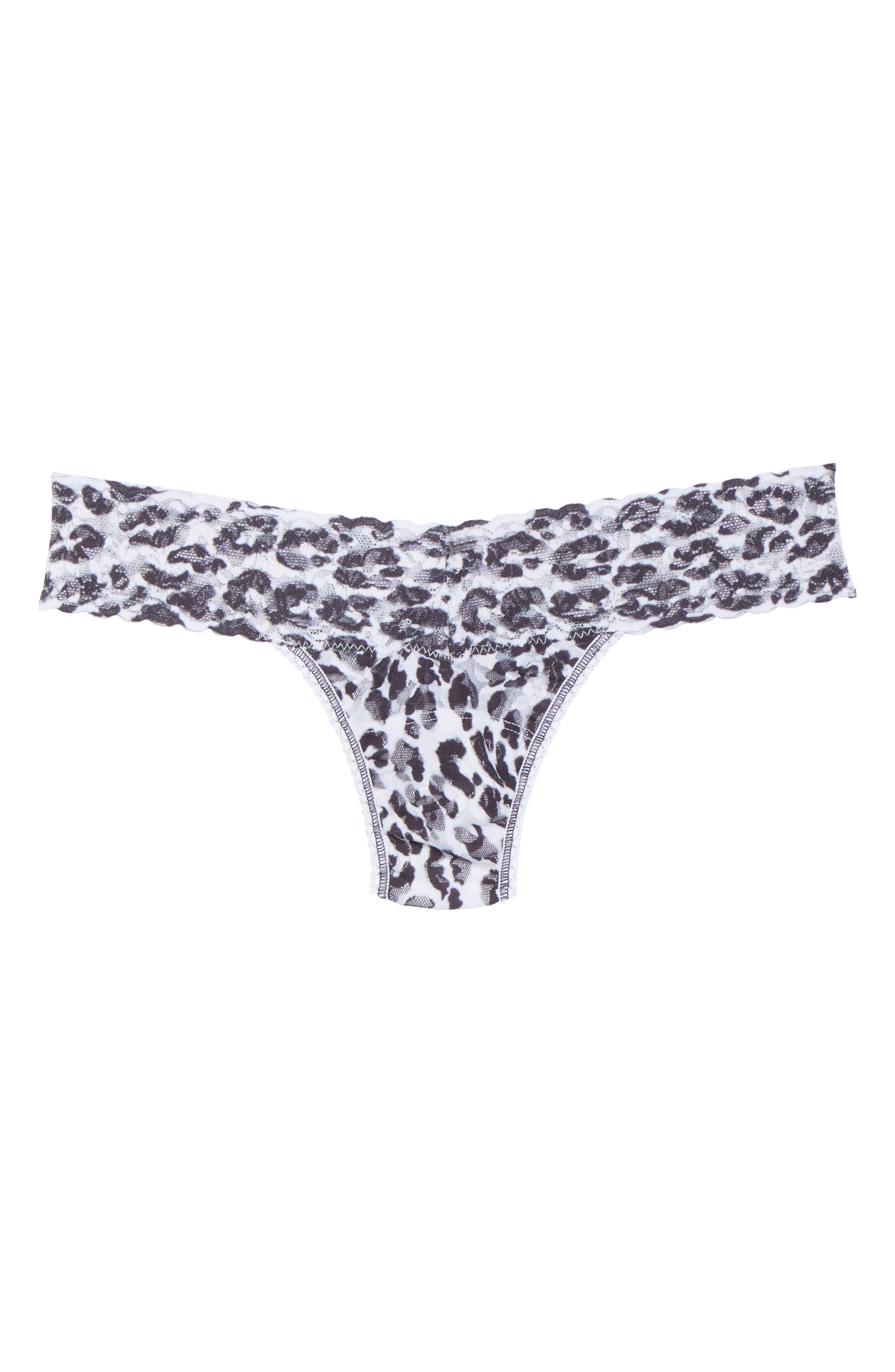 Print Low Rise Thong,                             Alternate thumbnail 92, color,