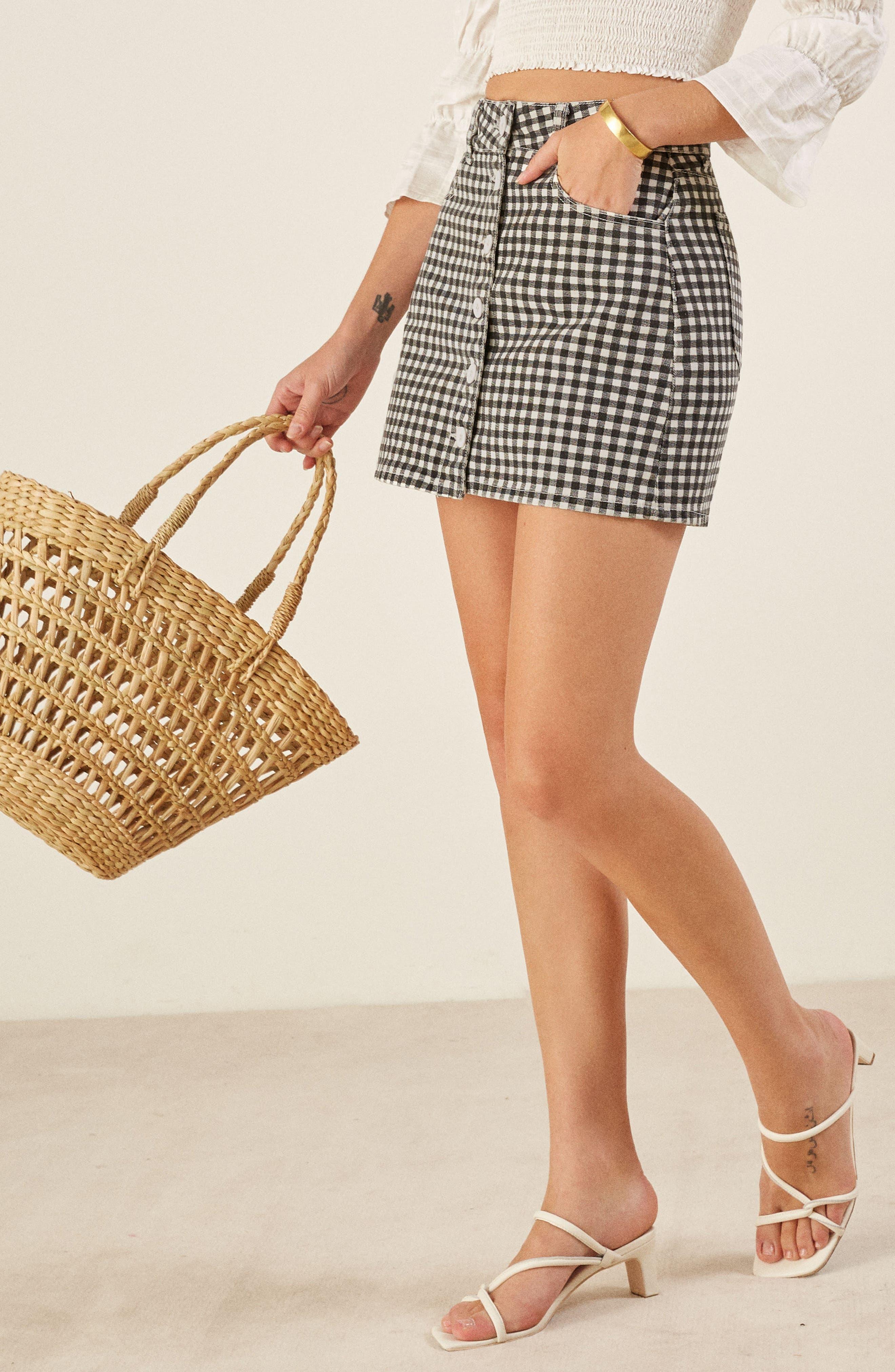 REFORMATION,                             Bianca Denim Miniskirt,                             Alternate thumbnail 3, color,                             001
