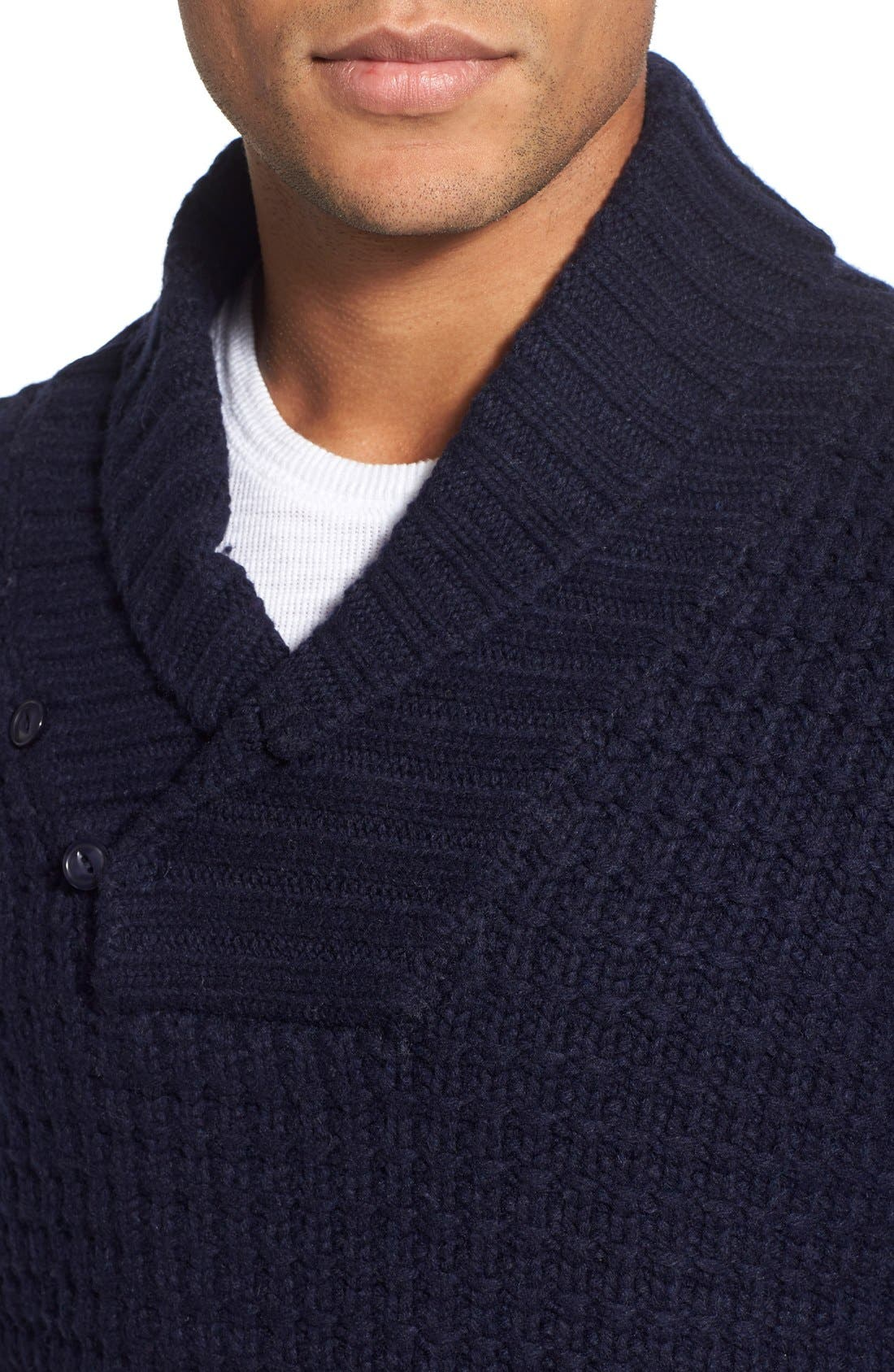 Shawl Collar Knit Pullover,                             Alternate thumbnail 15, color,