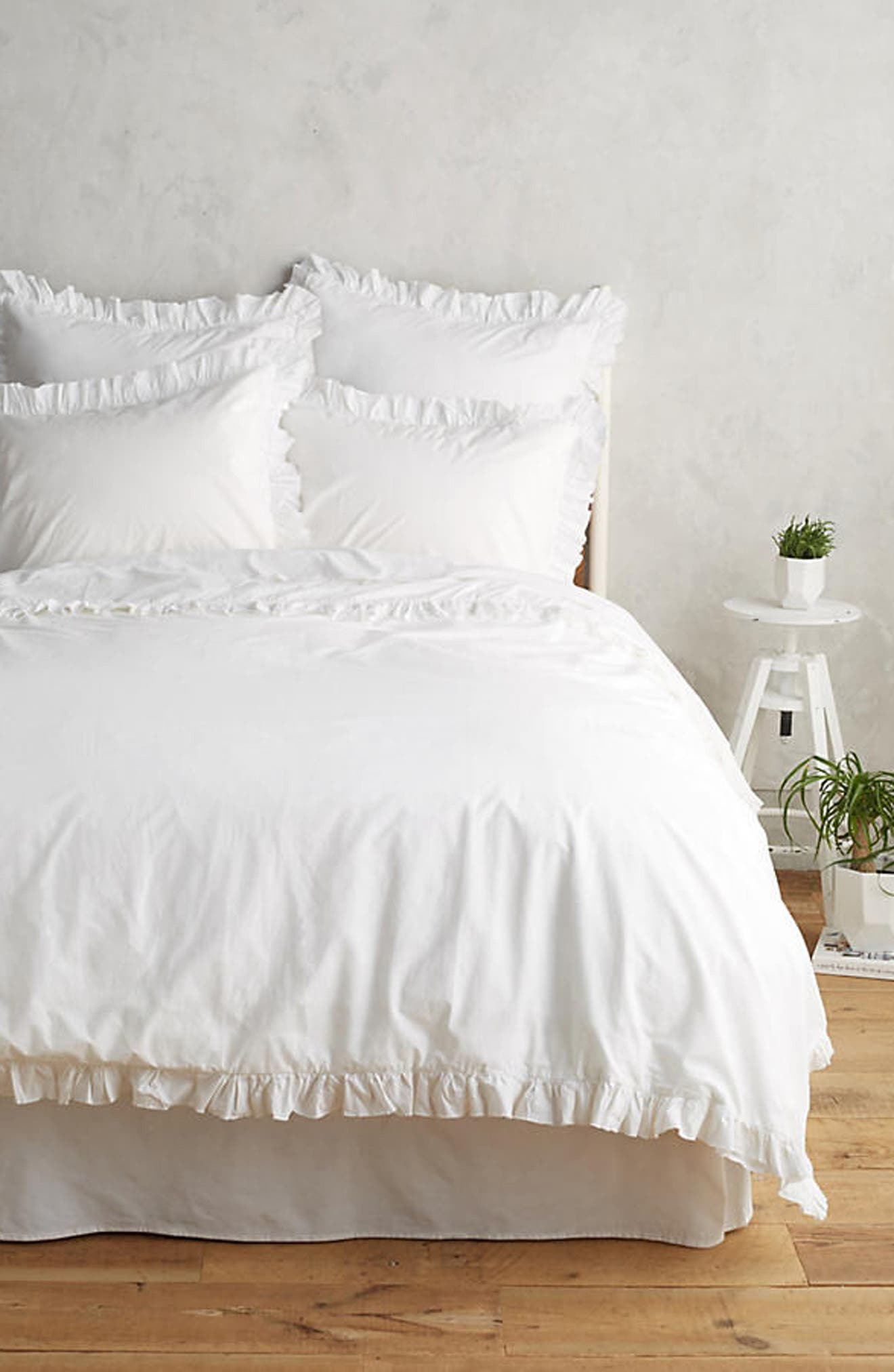 Madison Duvet Cover & Sham Set,                         Main,                         color, WHITE