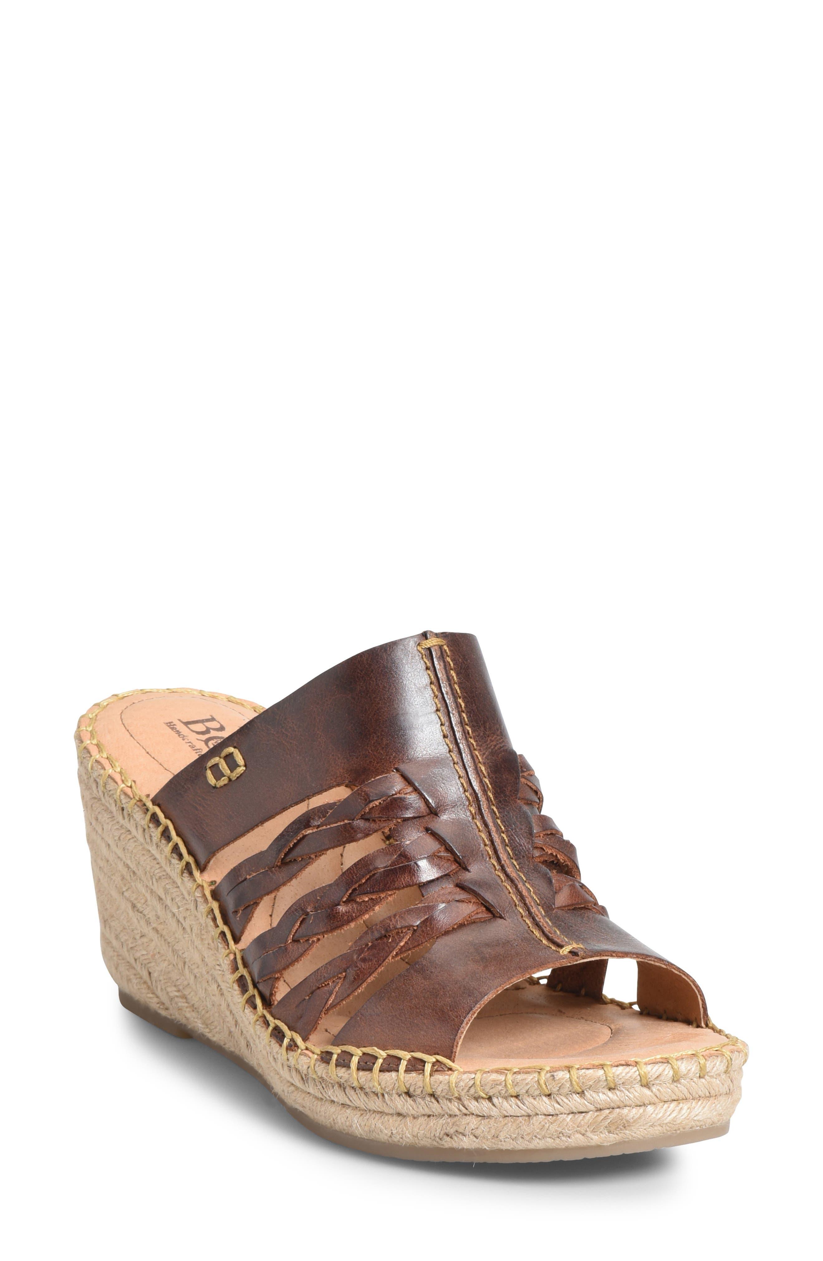 B?rn Pinal Wedge Slide Sandal, Brown