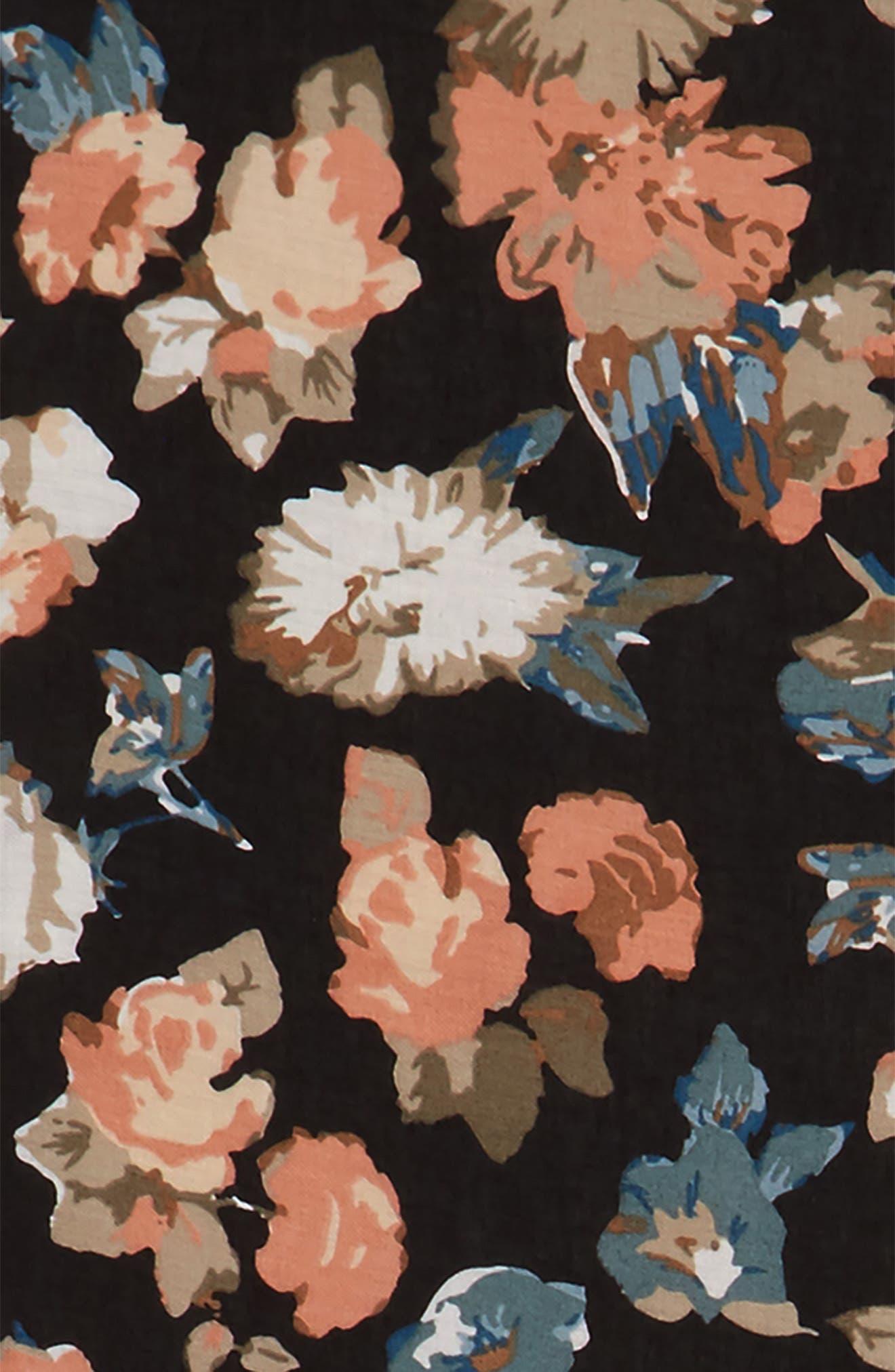 Reversible Floral Scarf,                             Alternate thumbnail 3, color,                             020