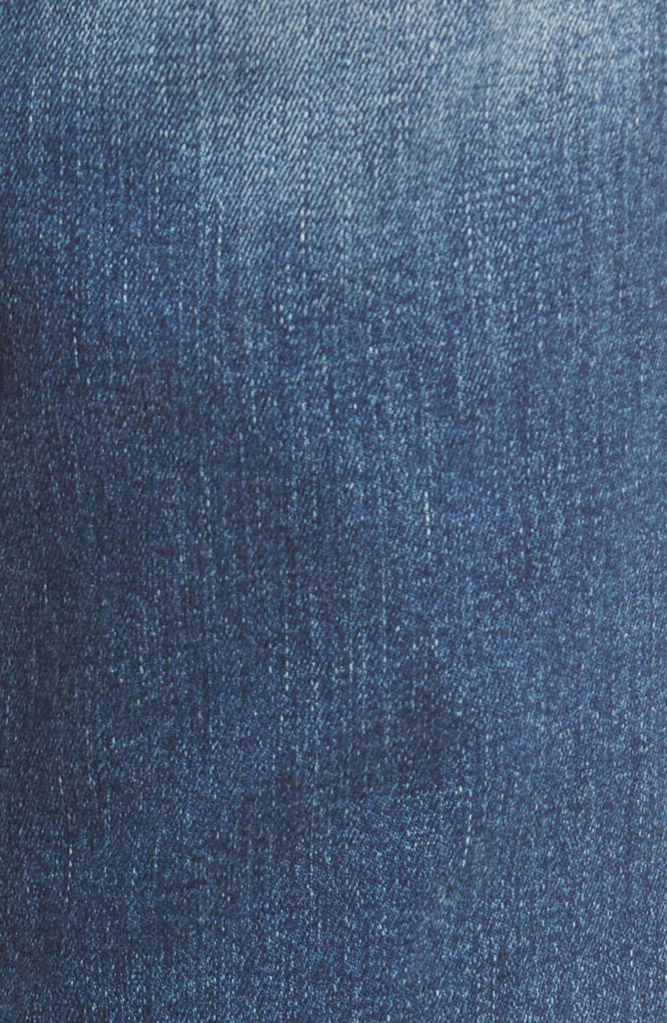 Distressed Fray Hem Skinny Jeans,                             Alternate thumbnail 6, color,                             420