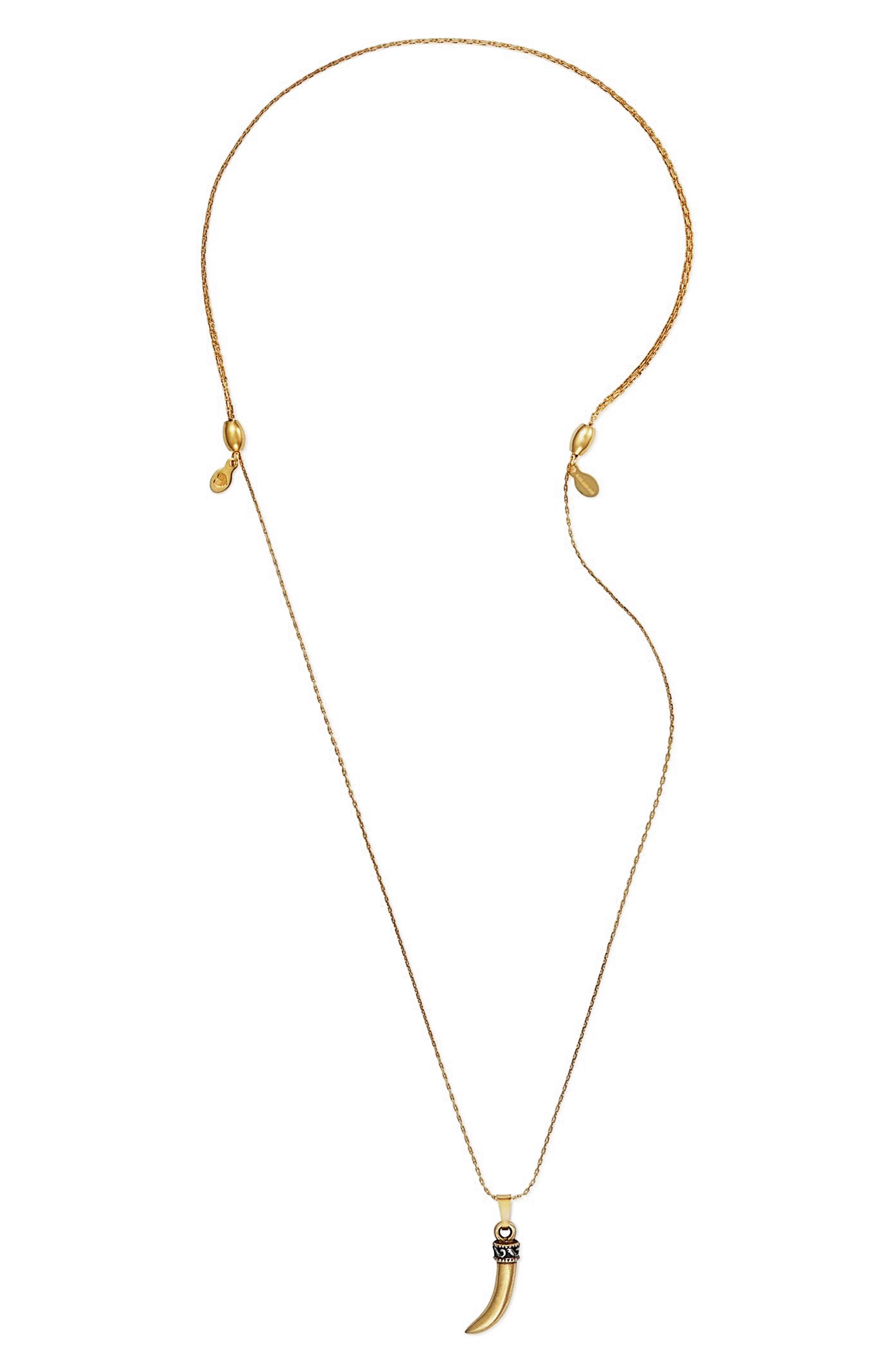 Horn Expandable Pendant Necklace,                             Main thumbnail 1, color,                             040