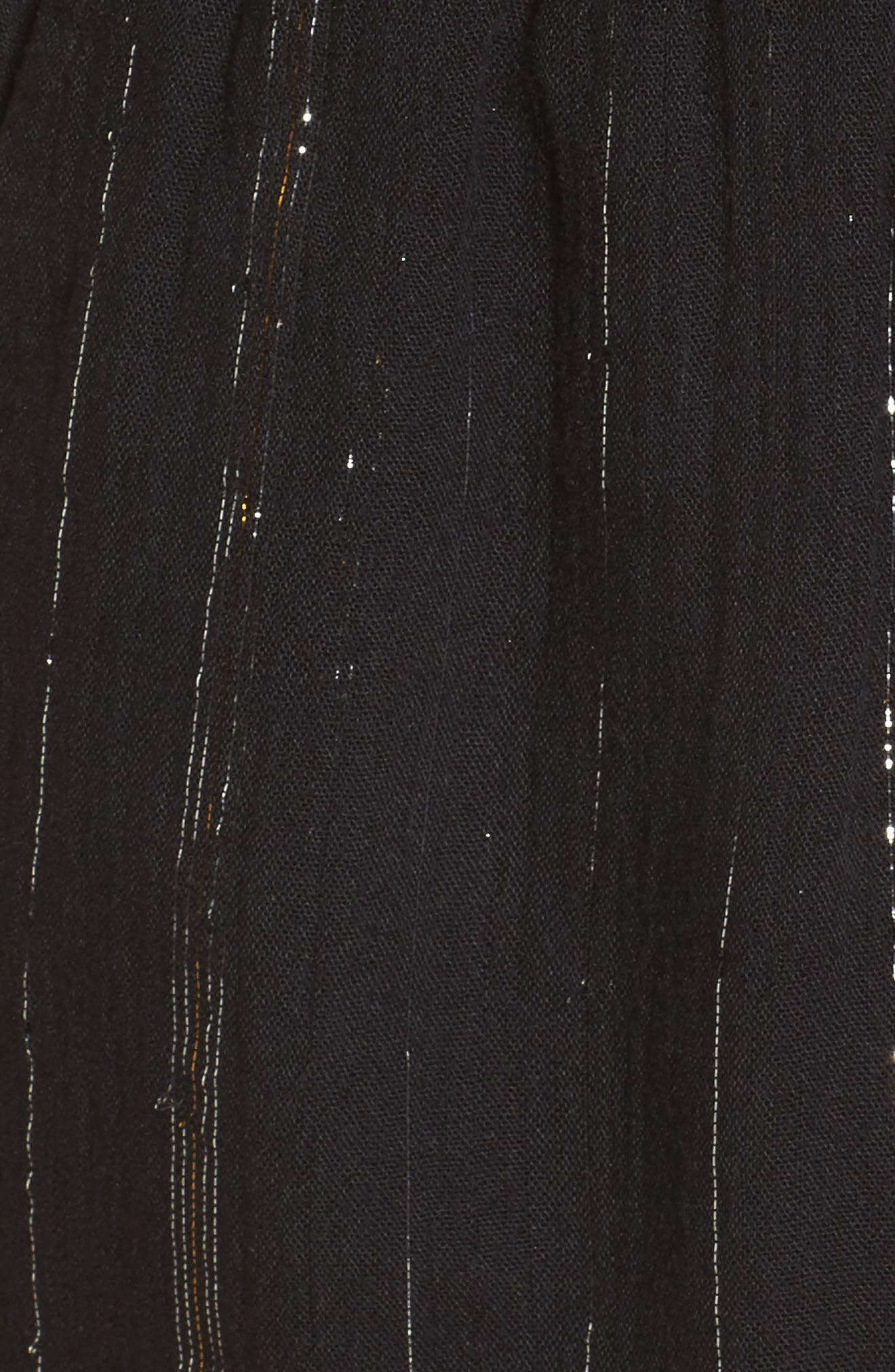 Hook It Up Metallic Stripe Romper,                             Alternate thumbnail 5, color,                             001