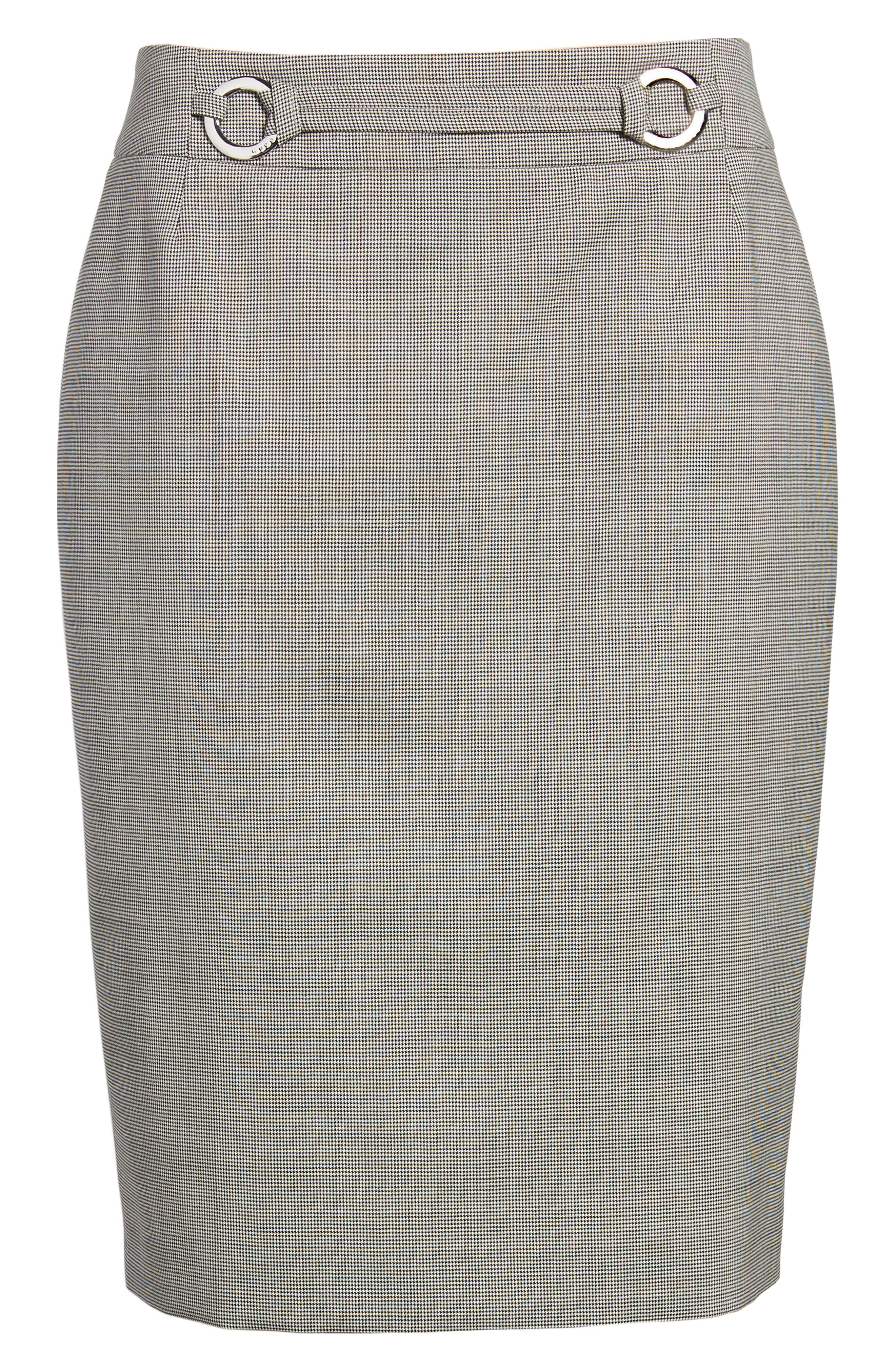 Vavilla Stretch Wool Suit Skirt,                             Alternate thumbnail 6, color,                             006