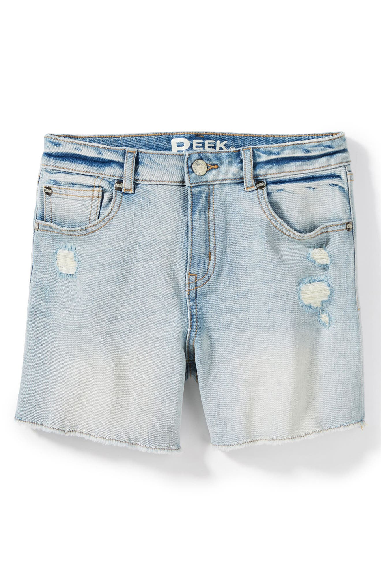 Griffin Rip & Repair Cutoff Denim Shorts,                             Main thumbnail 1, color,