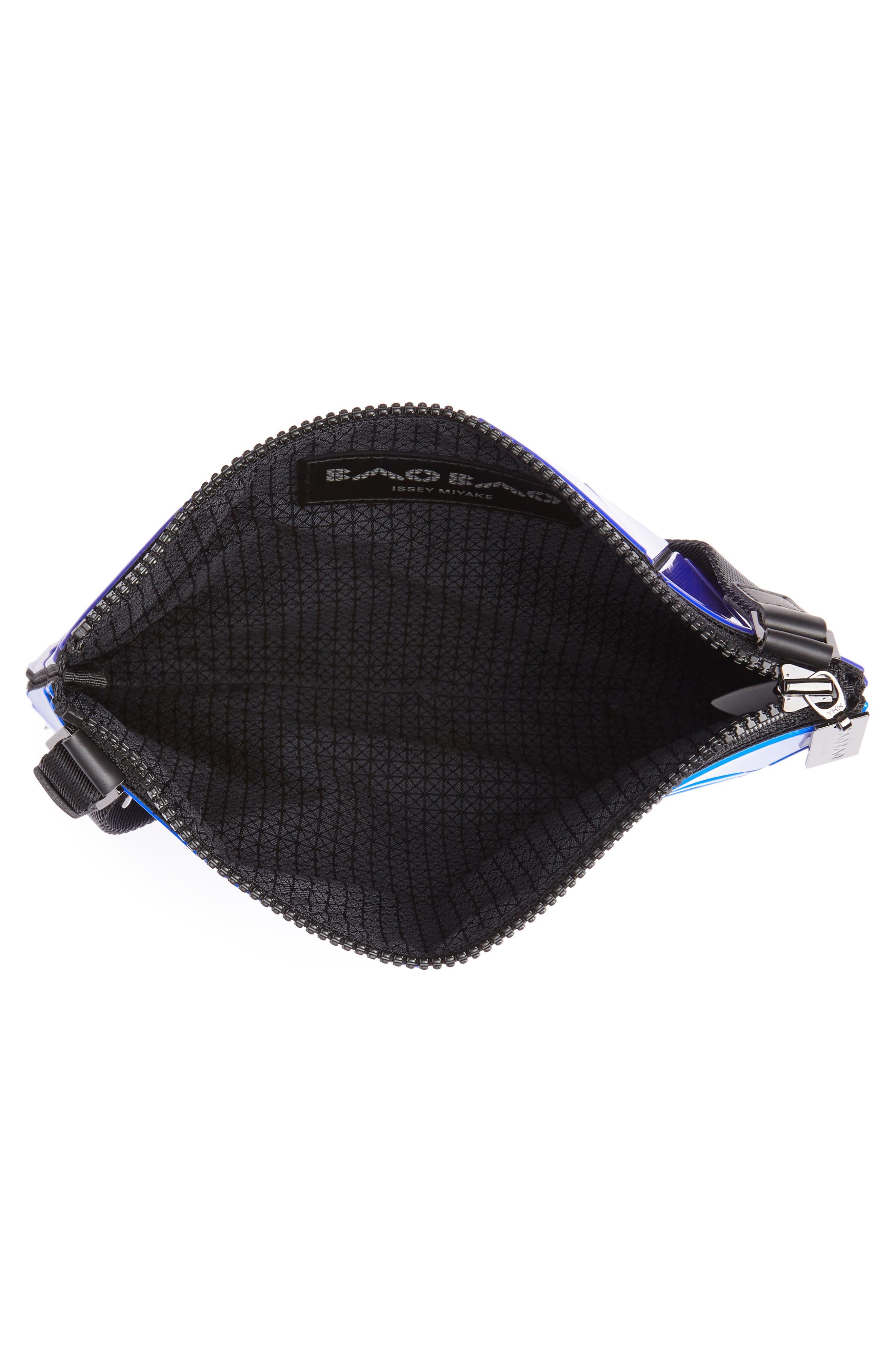 Lucent Two-Tone Crossbody Bag,                             Alternate thumbnail 4, color,                             BLUE/ DARK BLUE