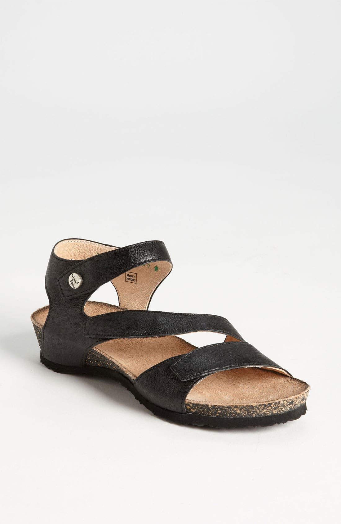 'Dumia' Three Strap Sandal,                             Main thumbnail 1, color,                             001