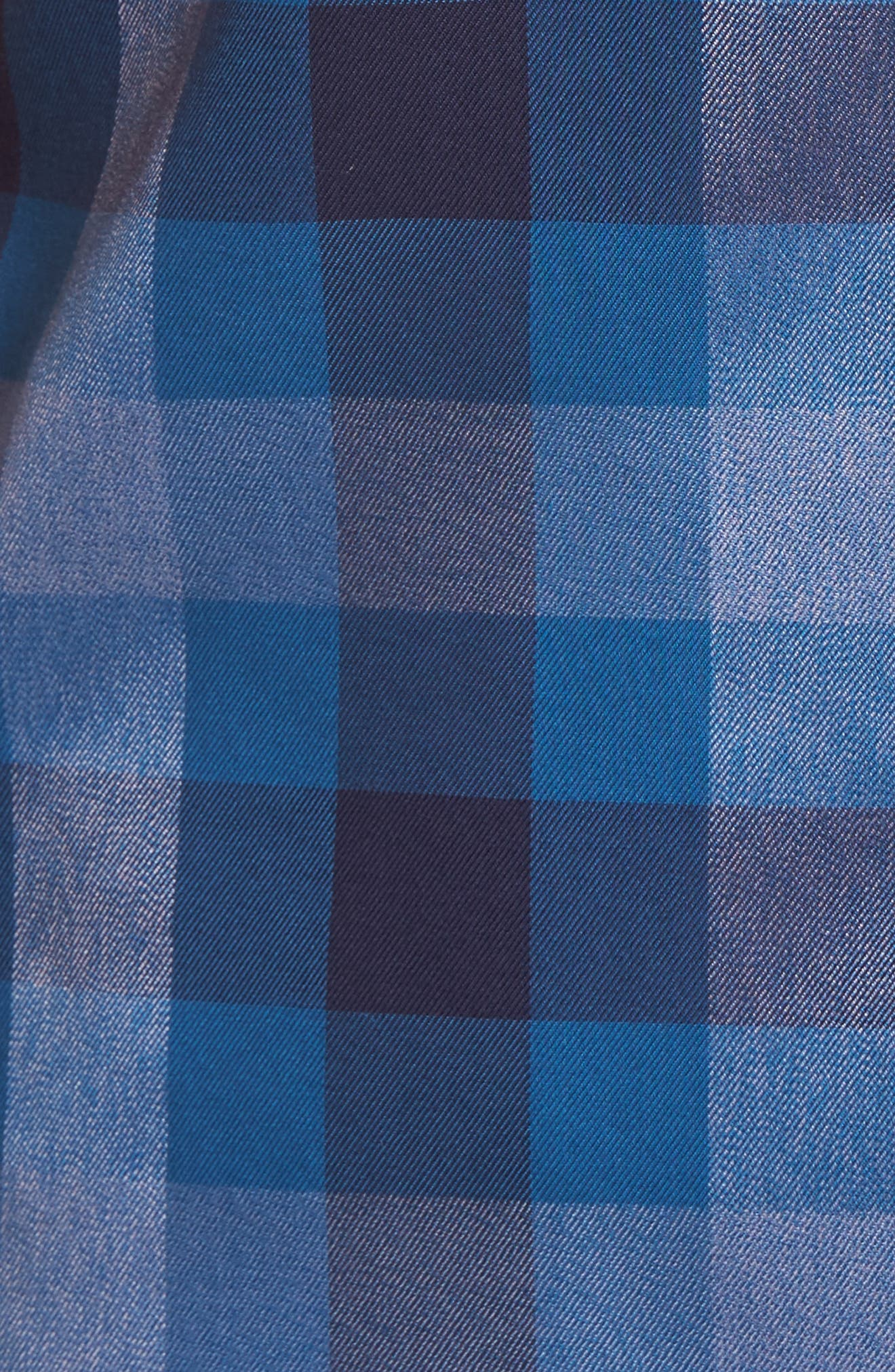 No-Iron Large Check Woven Shirt,                             Alternate thumbnail 5, color,                             410