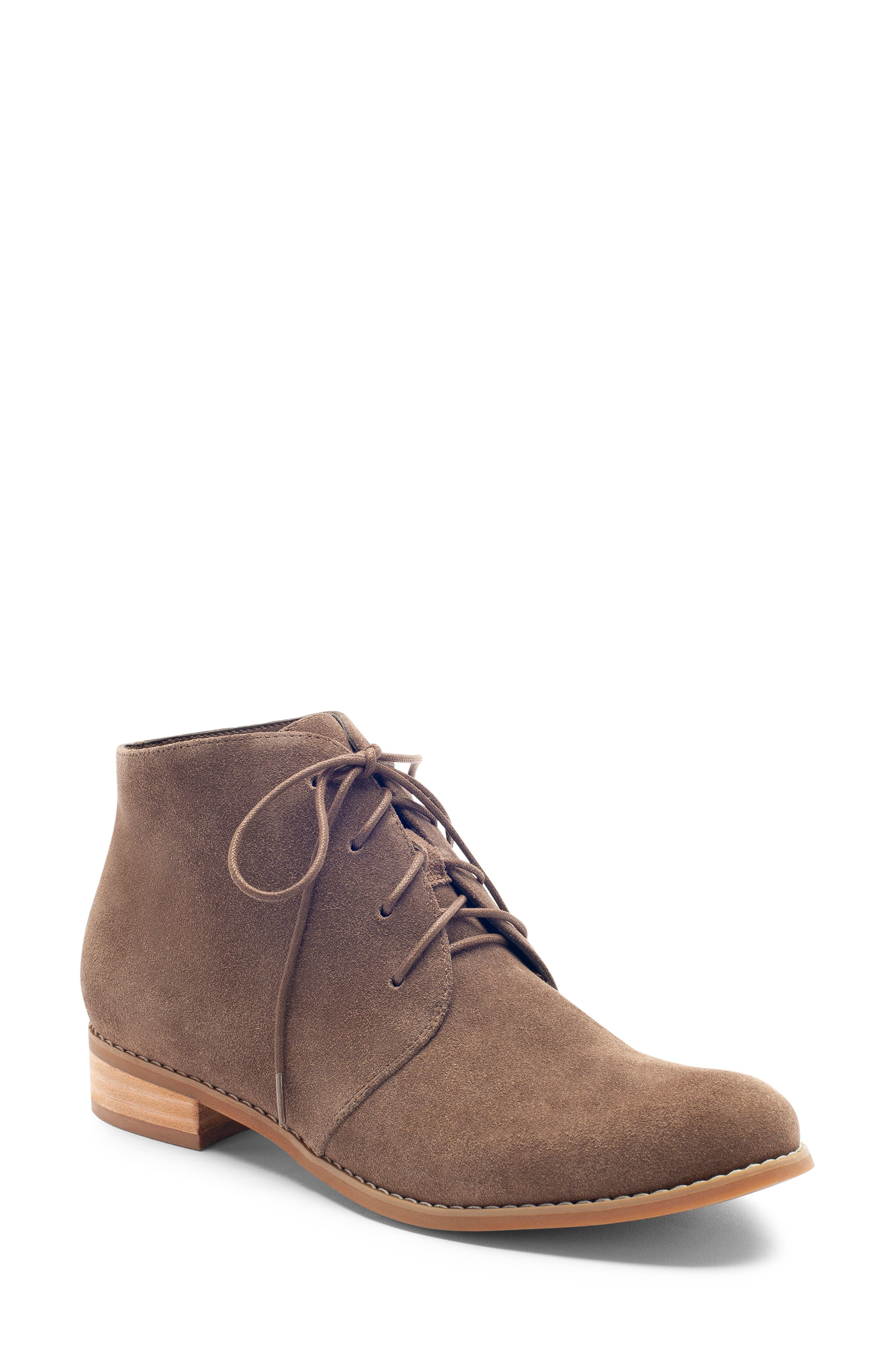Rayann Waterproof Desert Boot,                             Main thumbnail 1, color,                             DARK TAUPE SUEDE