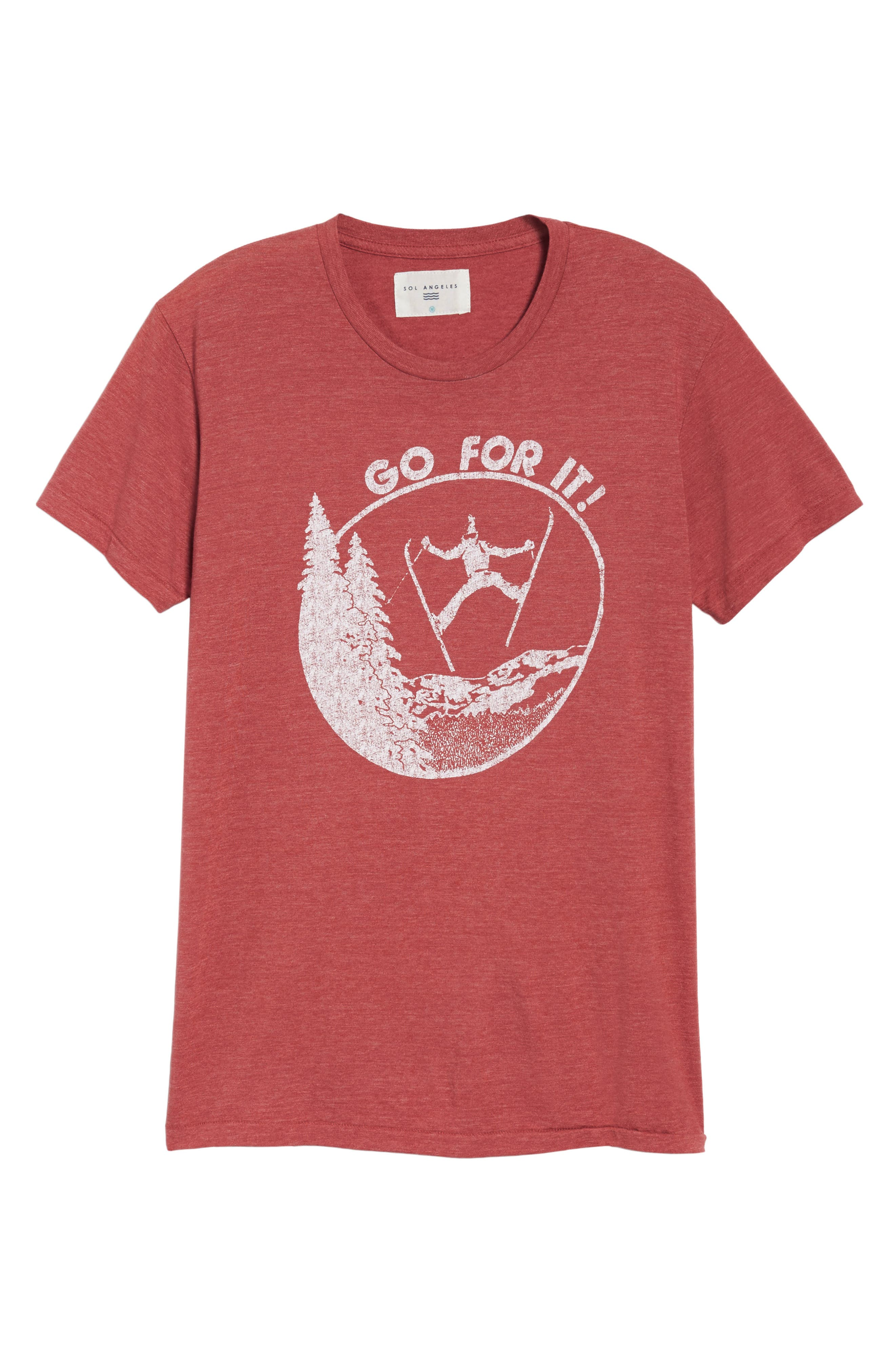 Go for It Graphic T-Shirt,                             Alternate thumbnail 6, color,                             610
