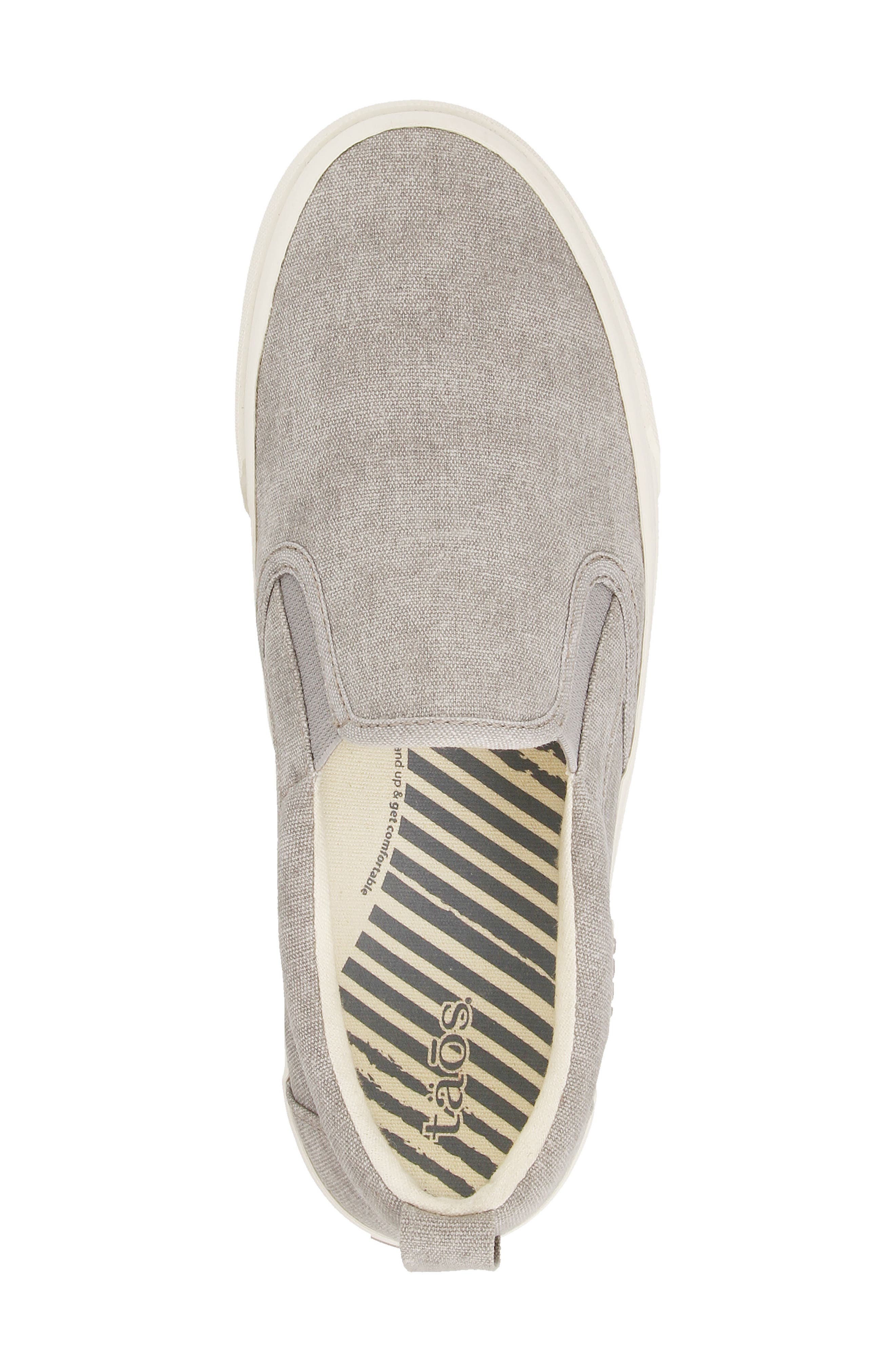 Soul Slip-On Sneaker,                             Alternate thumbnail 4, color,                             GREY WASH CANVAS