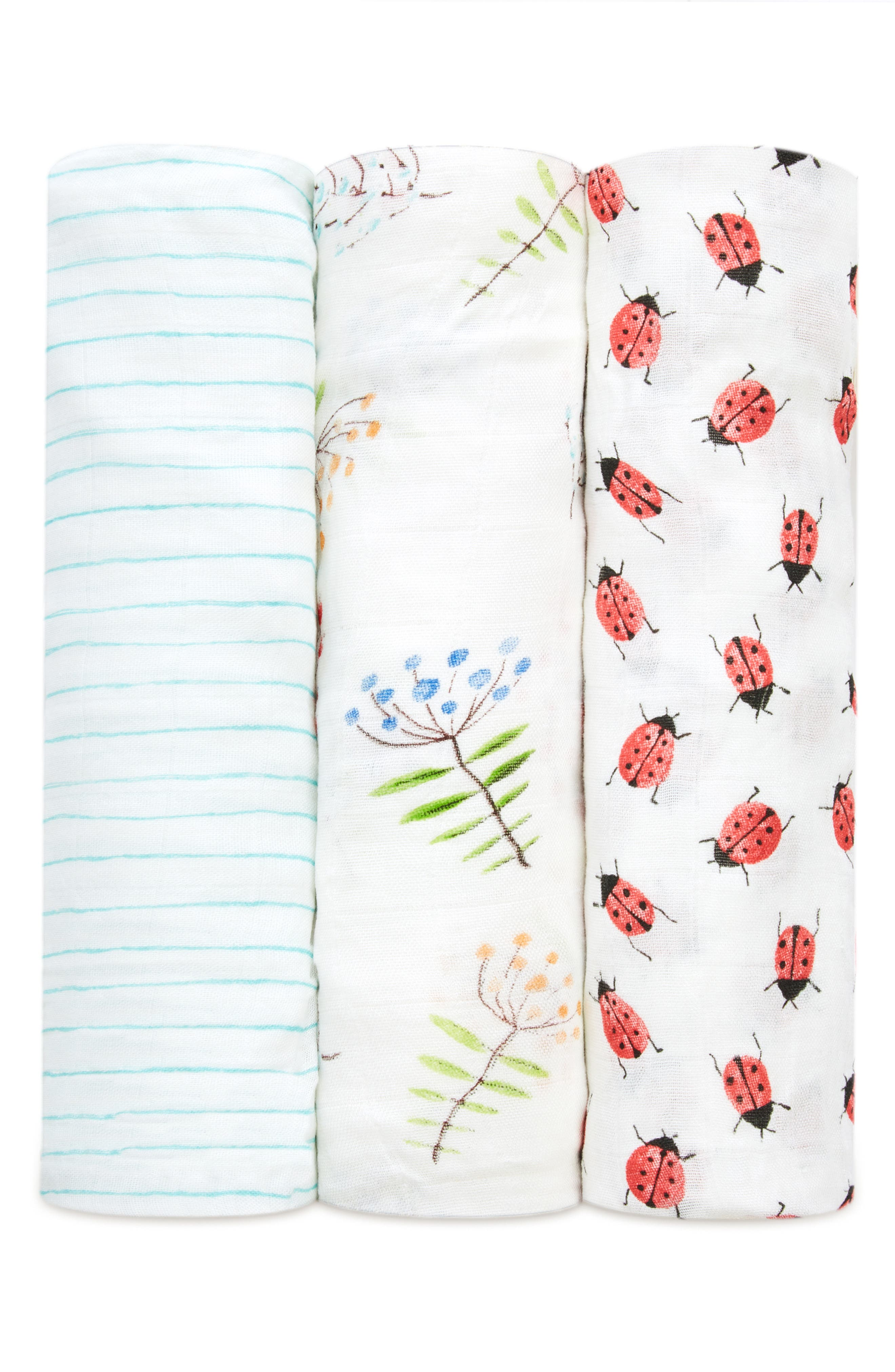 3-Pack Silky Soft Swaddling Cloths,                             Alternate thumbnail 4, color,                             100
