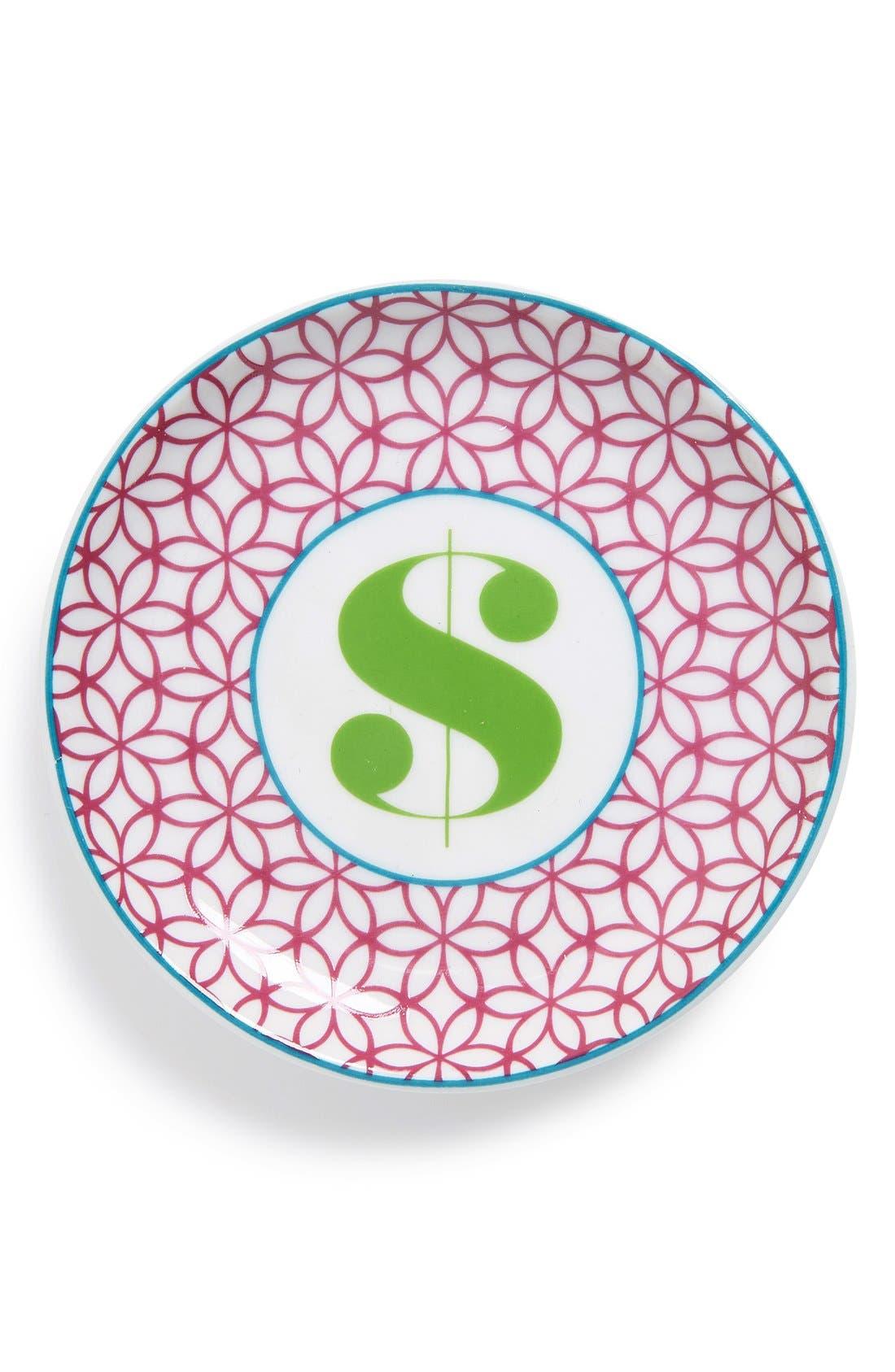 'L'Alphabet' Porcelain Tray,                             Main thumbnail 1, color,