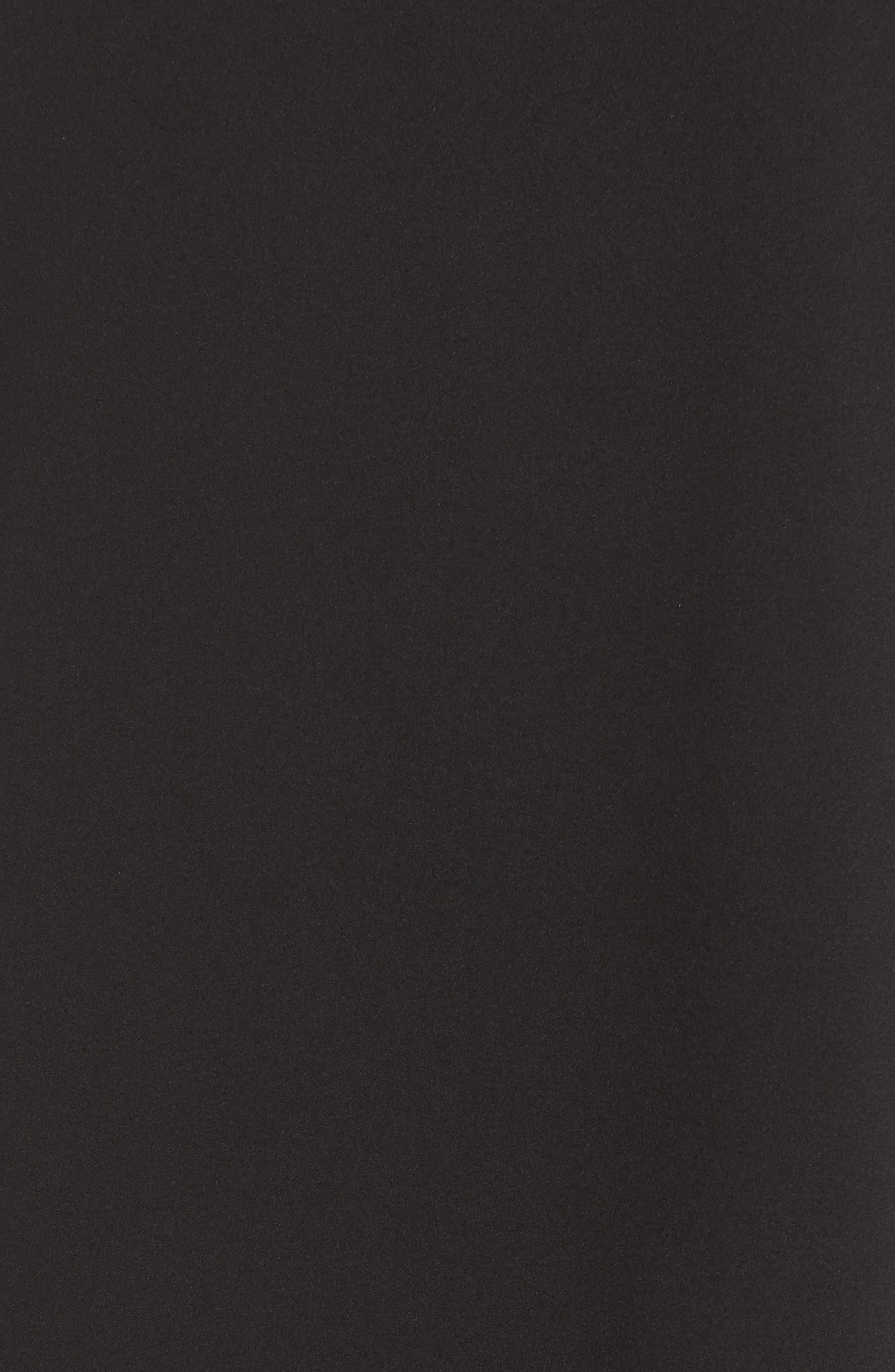 Flutter Sleeve Crepe Shift Dress,                             Alternate thumbnail 6, color,                             001