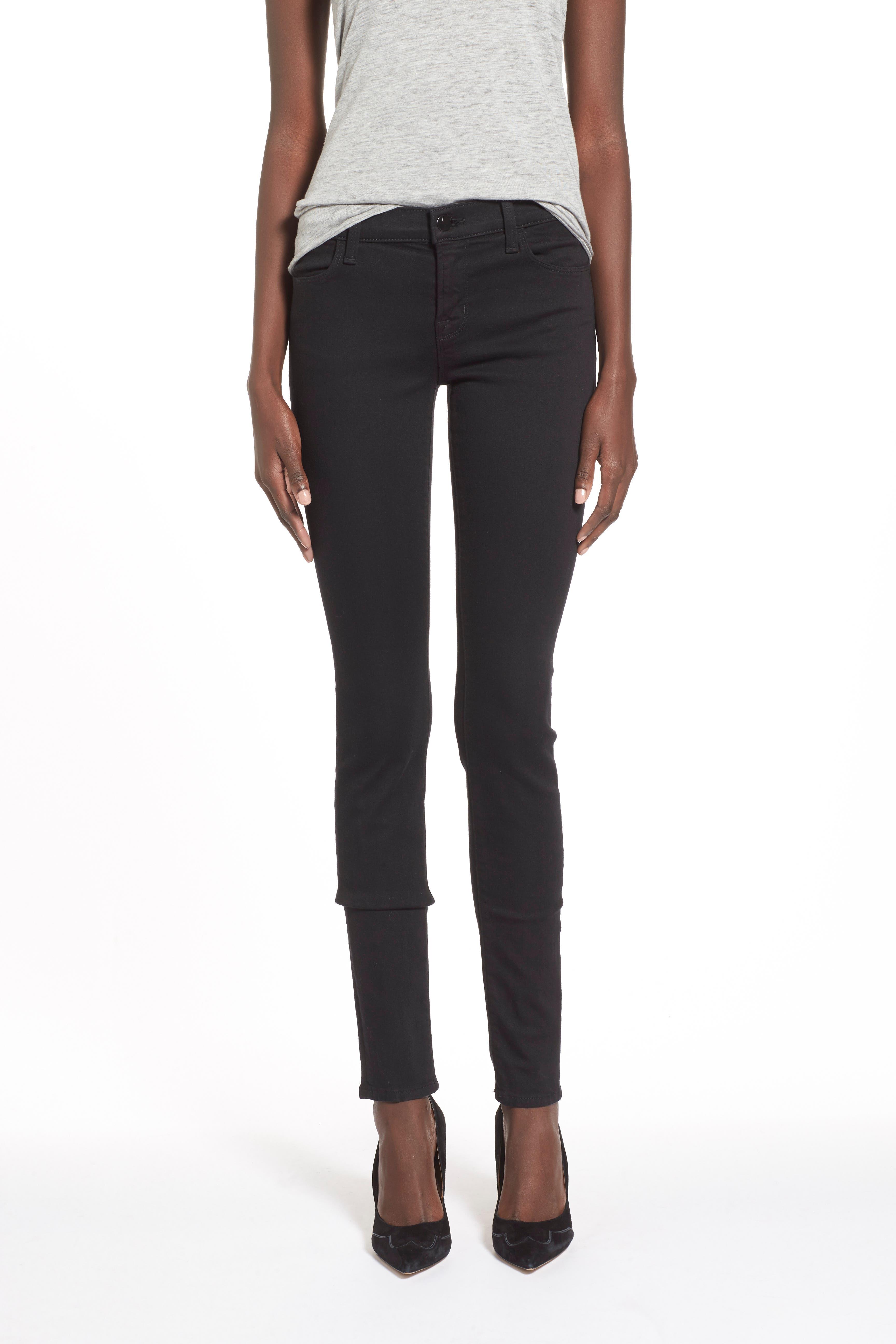 J BRAND,                             Super Skinny Jeans,                             Alternate thumbnail 7, color,                             SERIOUSLY BLACK