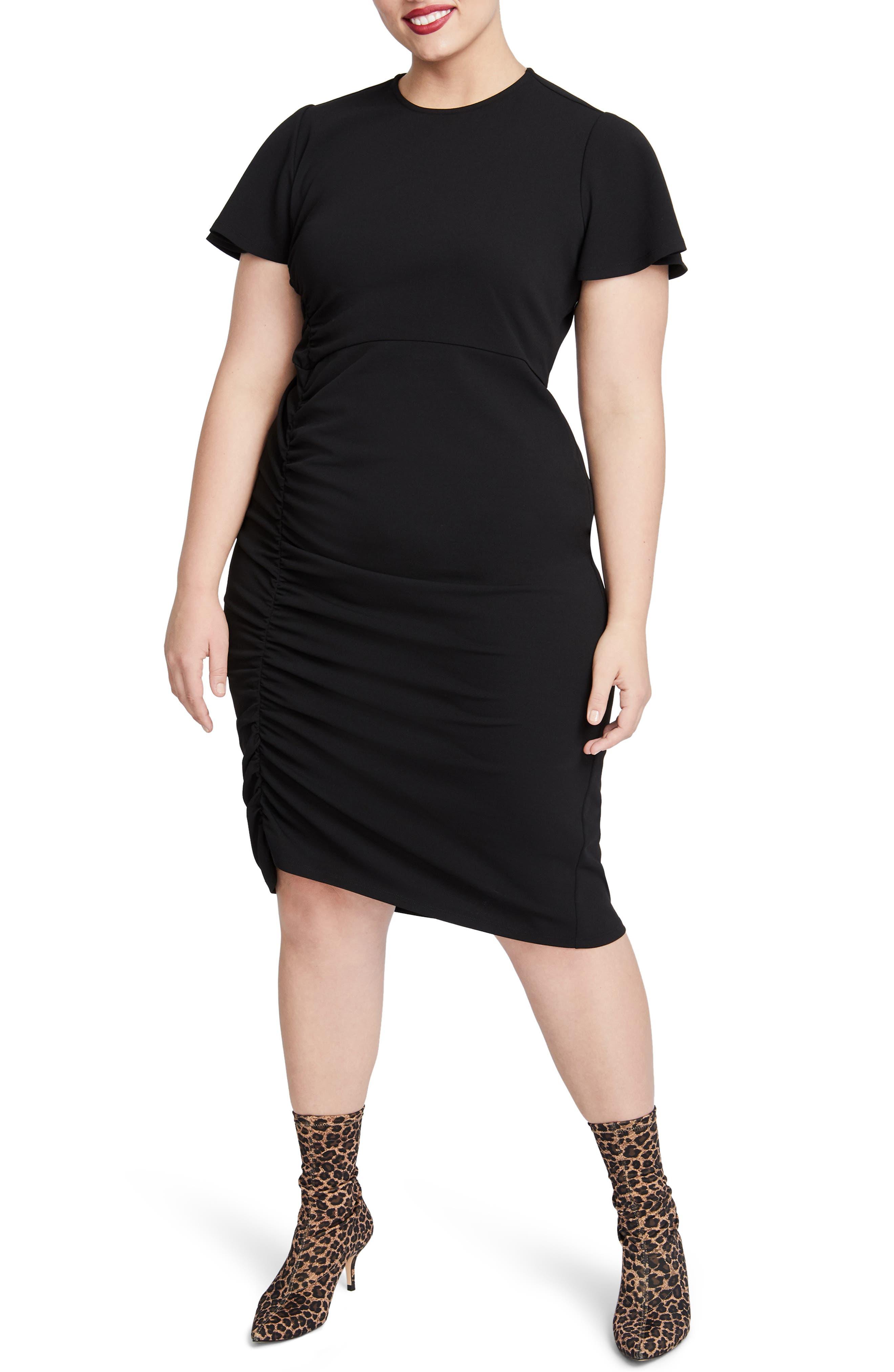 Pippa Ruched Sheath Dress,                             Main thumbnail 1, color,                             001