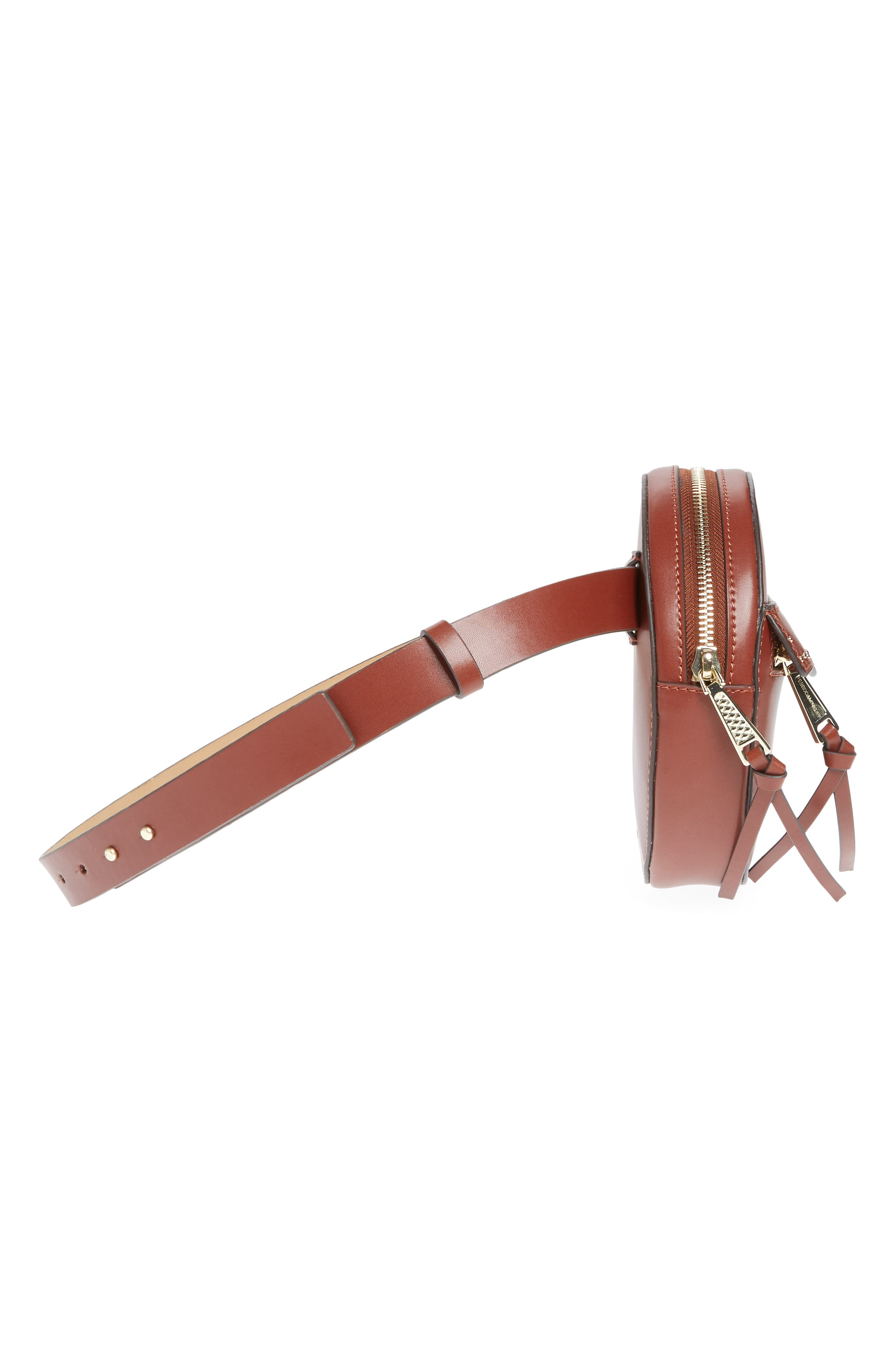 Lucy Leather Belt Bag,                             Alternate thumbnail 5, color,                             LUGGAGE