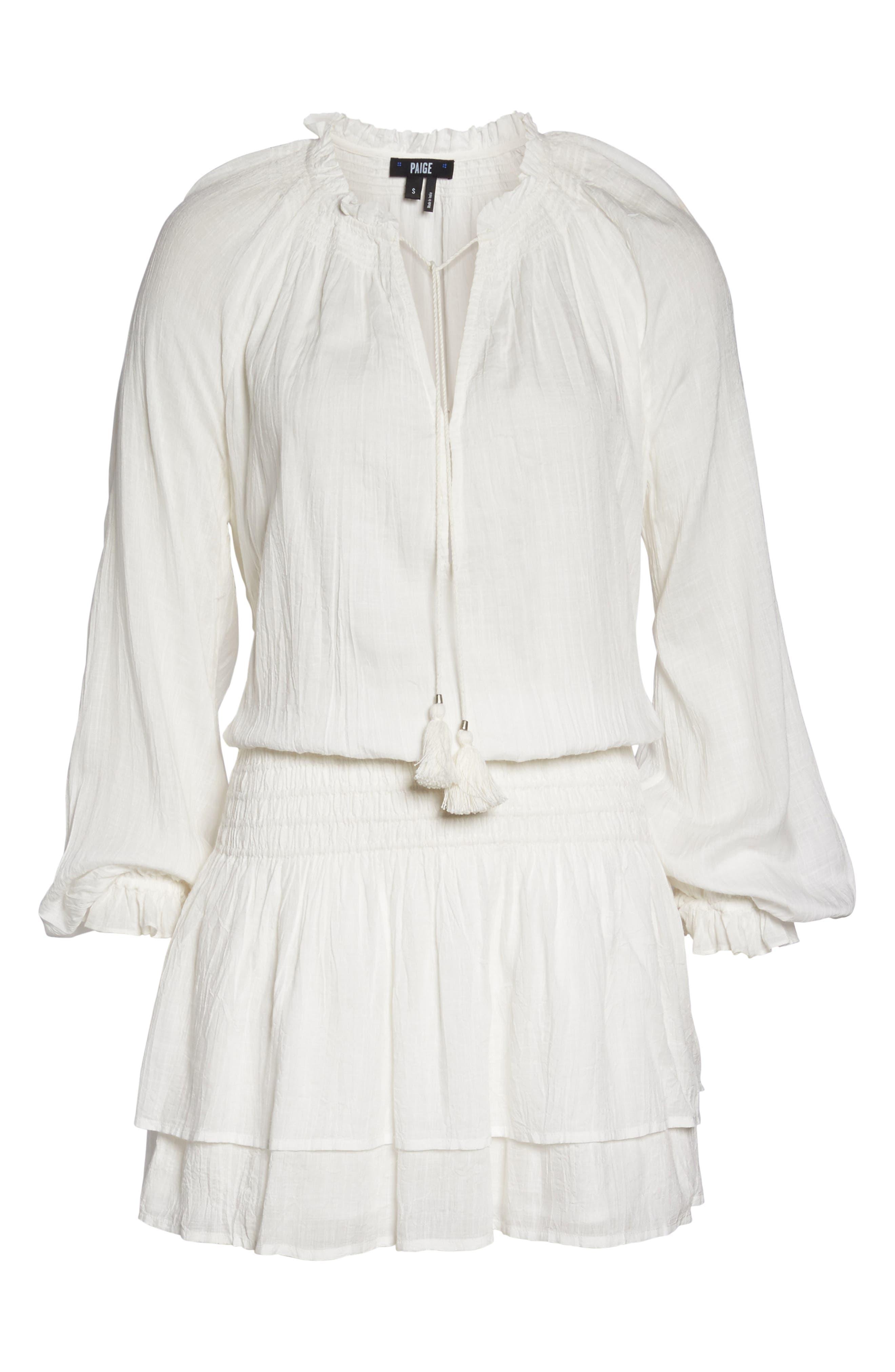 Lemay Peasant Dress,                             Alternate thumbnail 7, color,                             100