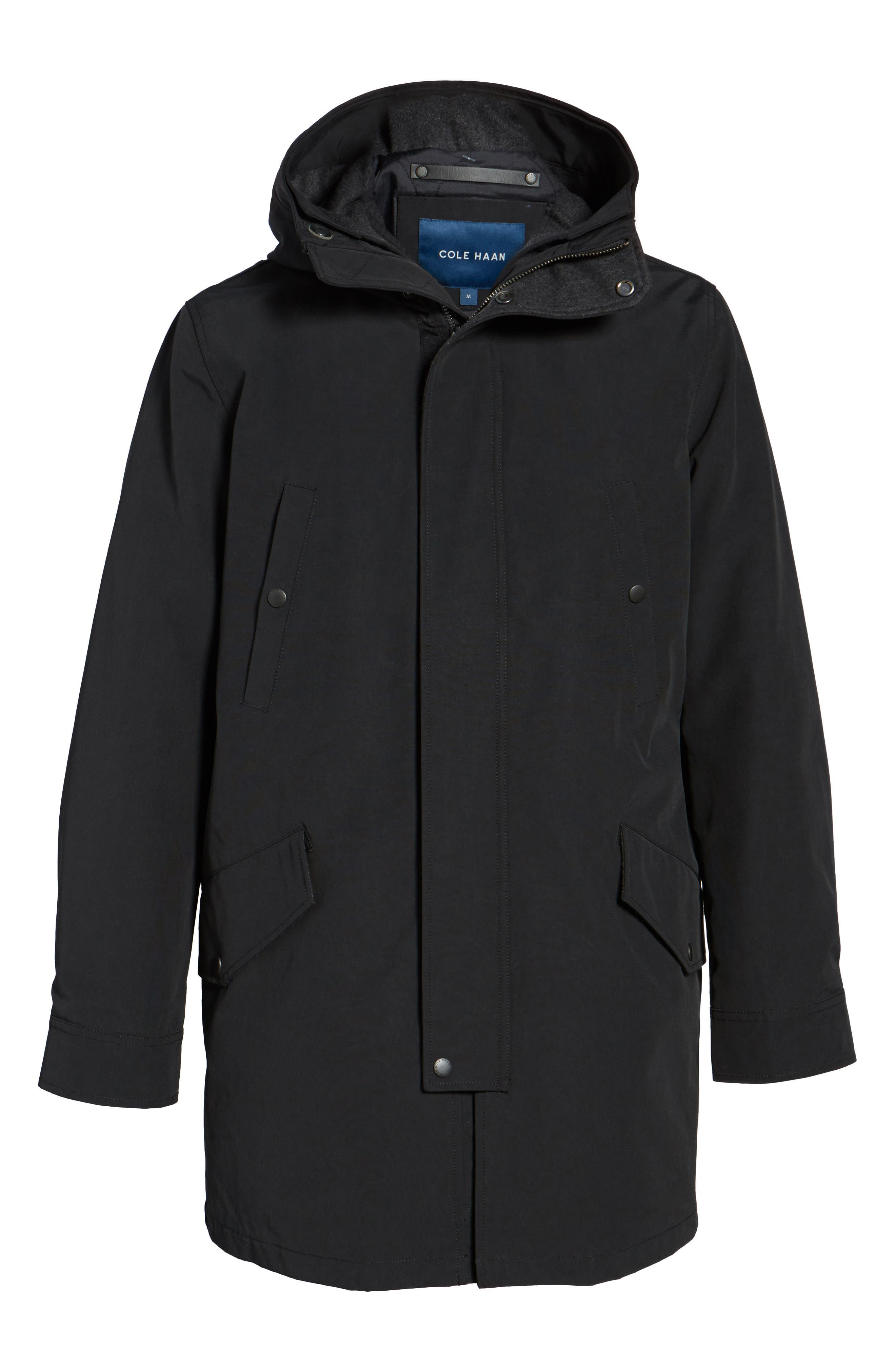 Water Repellent 3-in-1 Utility Jacket,                             Alternate thumbnail 5, color,                             001