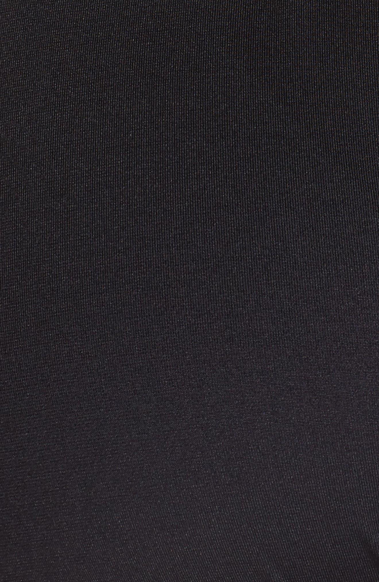 Halter Tankini Top,                             Alternate thumbnail 5, color,                             BLACK