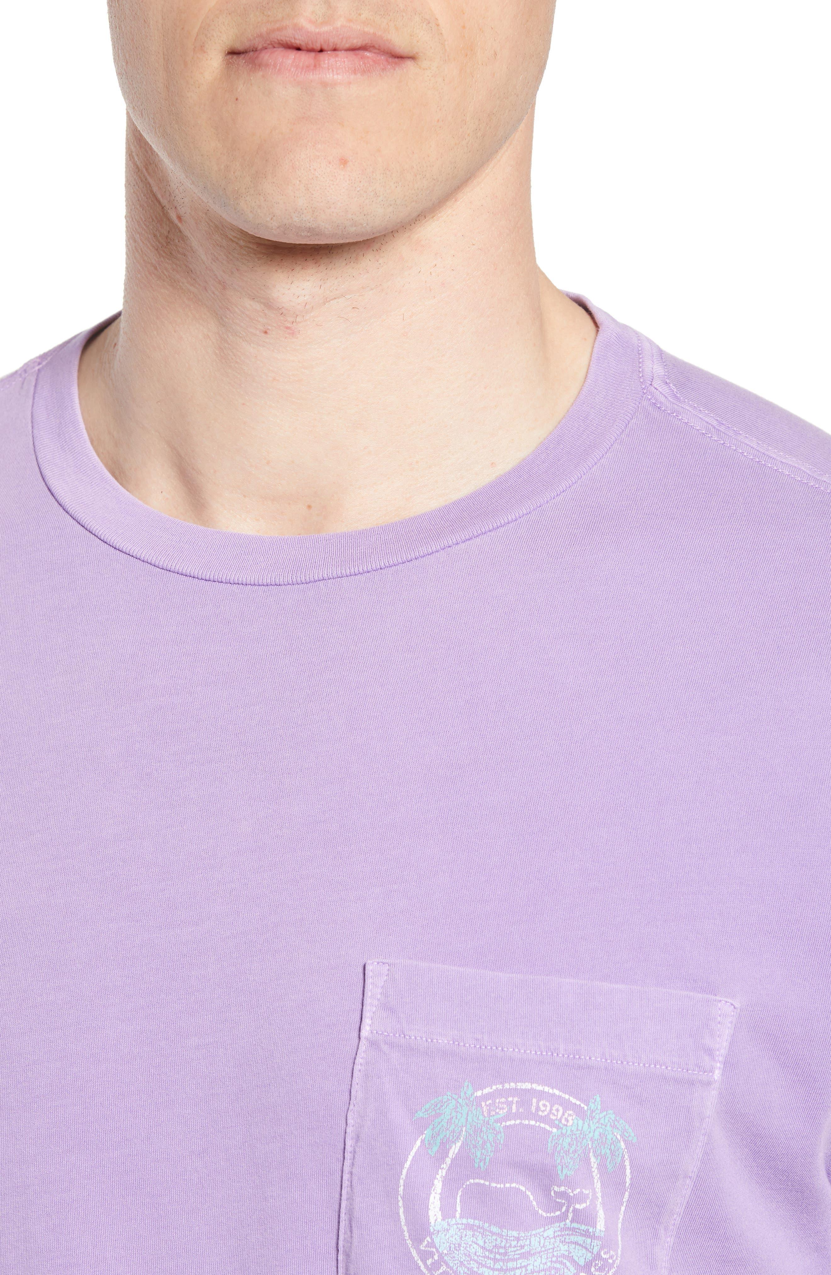 Tropical Crest Pima Cotton Pocket T-Shirt,                             Alternate thumbnail 4, color,