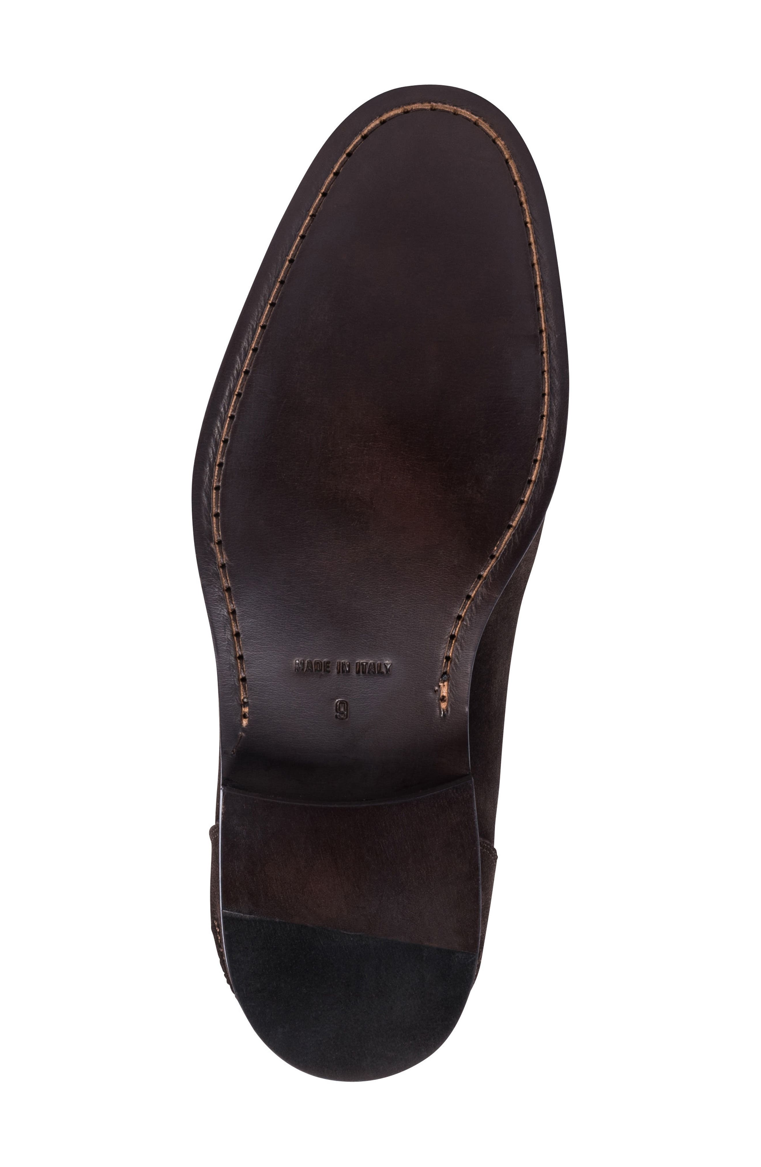 Torino Penny Loafer,                             Alternate thumbnail 6, color,                             BROWN SUEDE