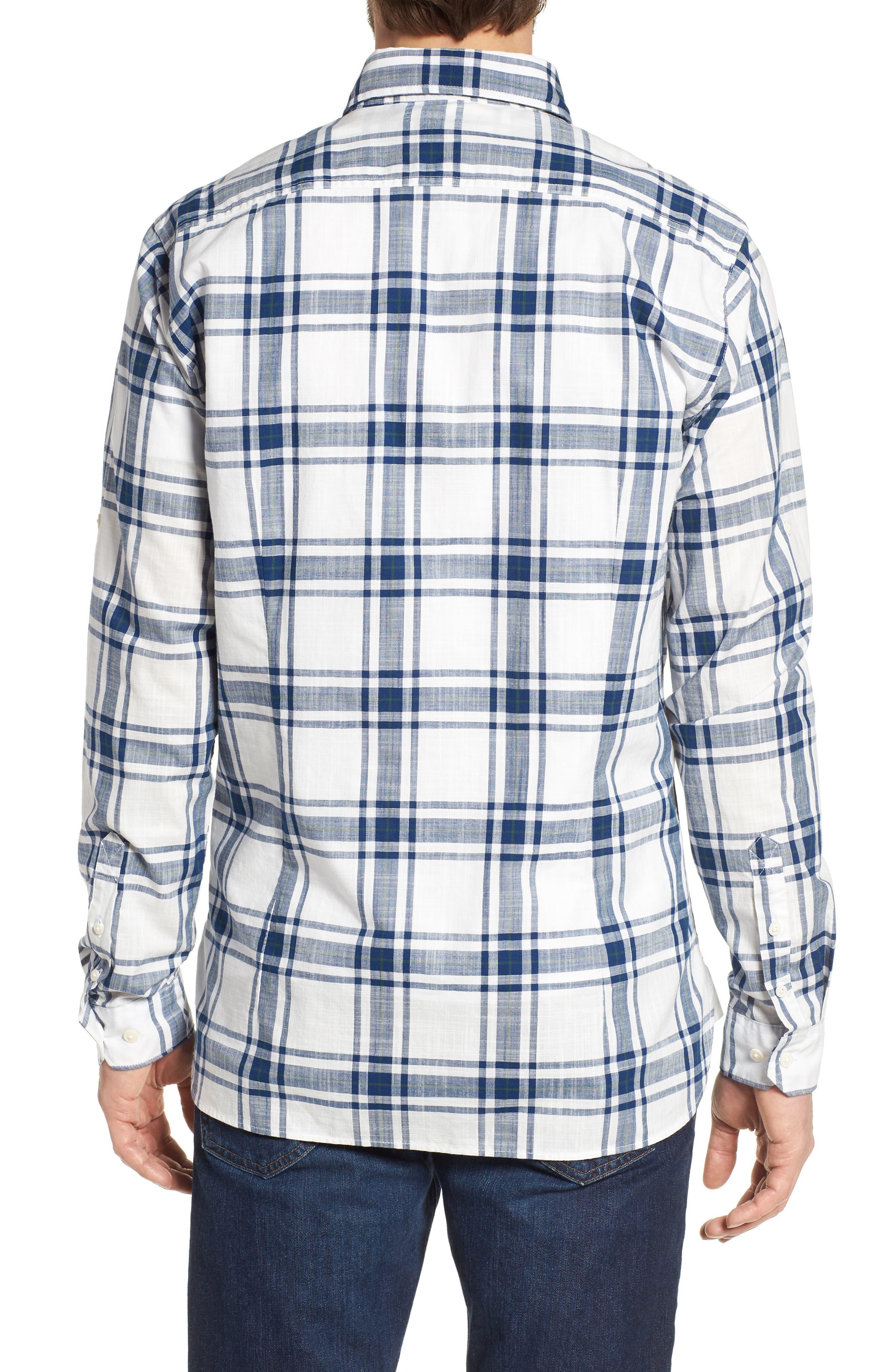 Elver Tailored Fit Plaid Sport Shirt,                             Alternate thumbnail 2, color,                             330