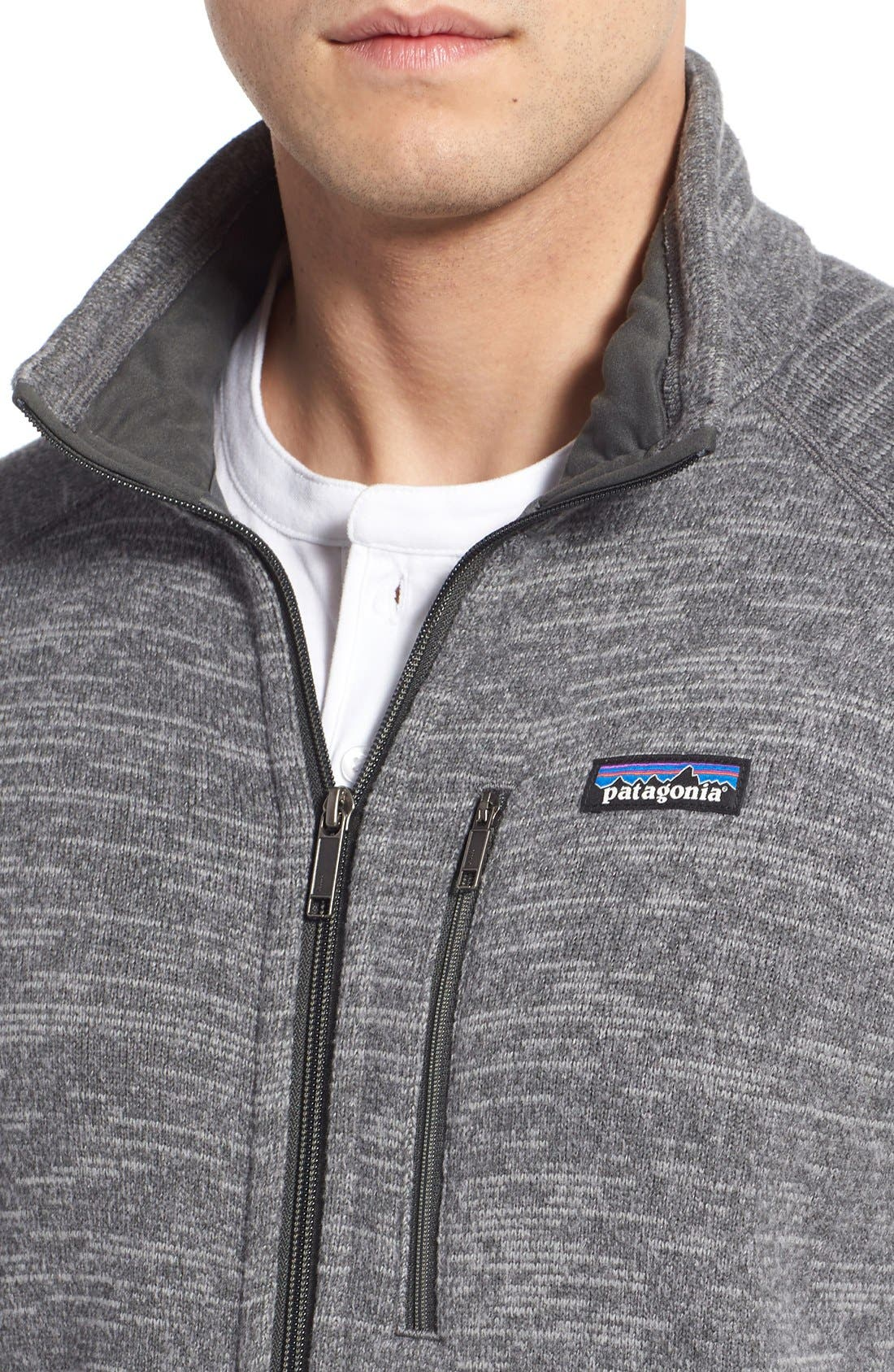 Better Sweater Zip Front Jacket,                             Alternate thumbnail 3, color,                             NICKEL/ FORGE GREY